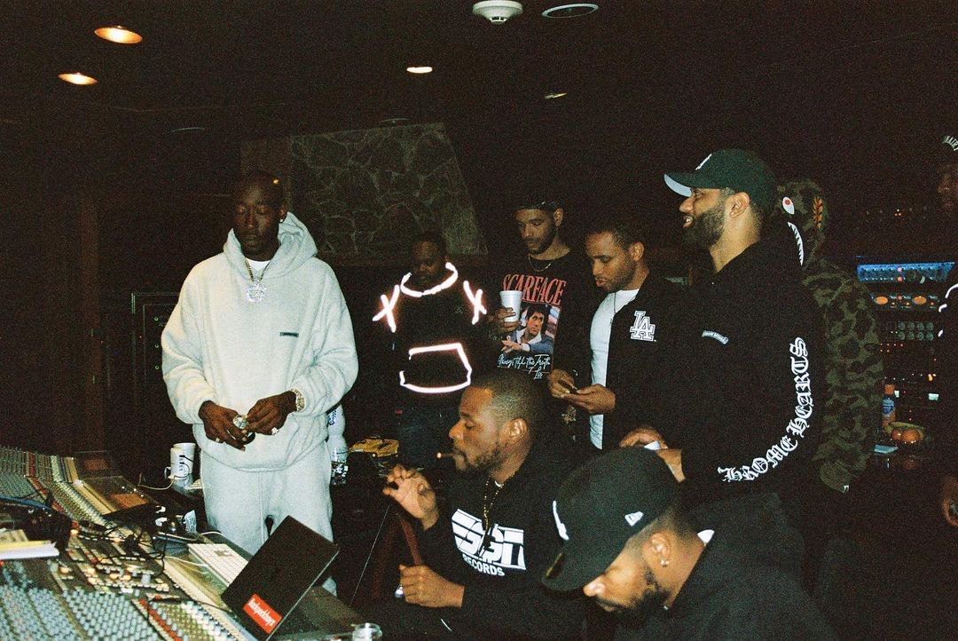 YG Beats on the studio with Freddie Gibbs