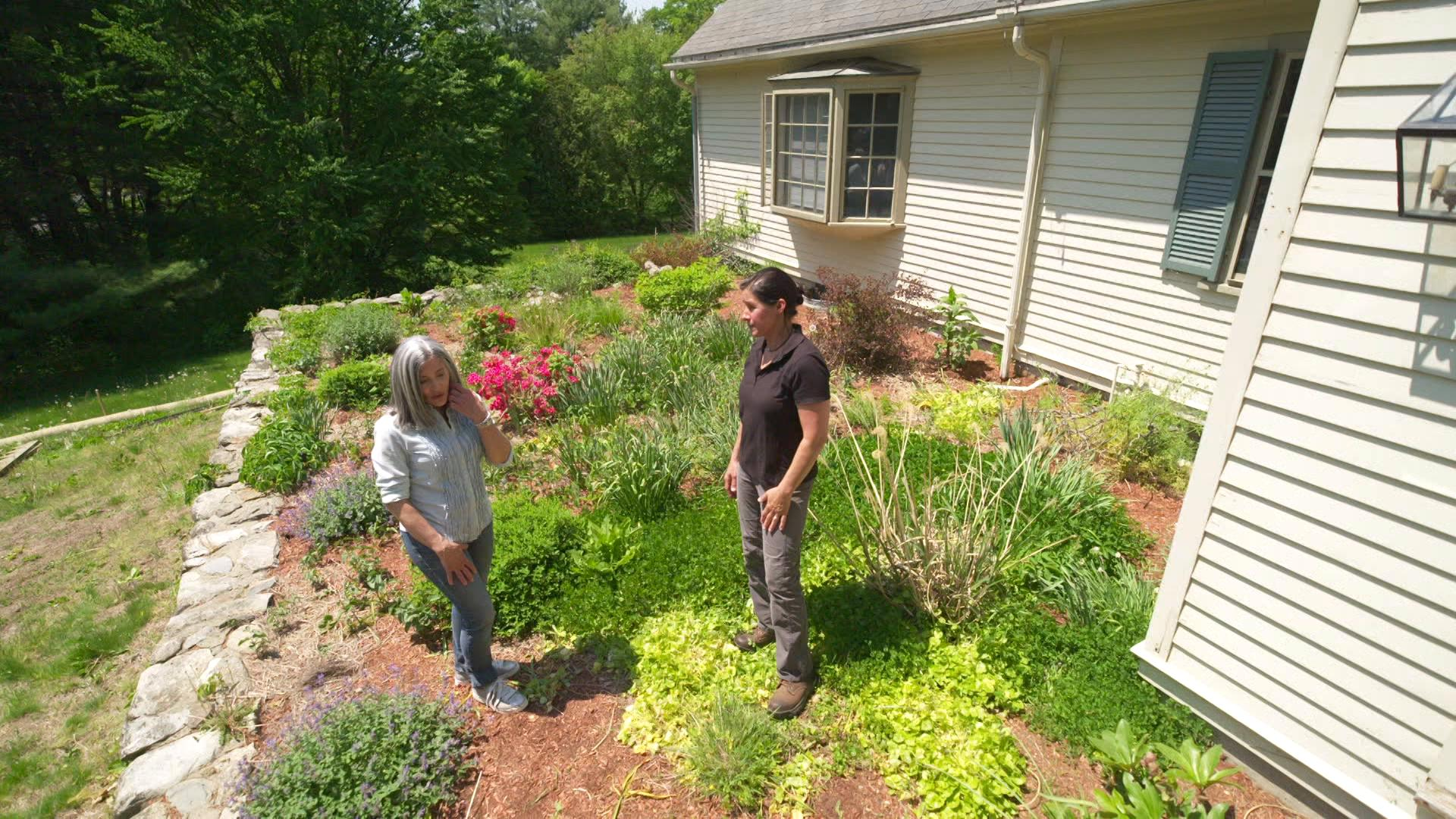 S43 E3, Jenn Nawada meets Maria Wheeler to go over the landscape plan