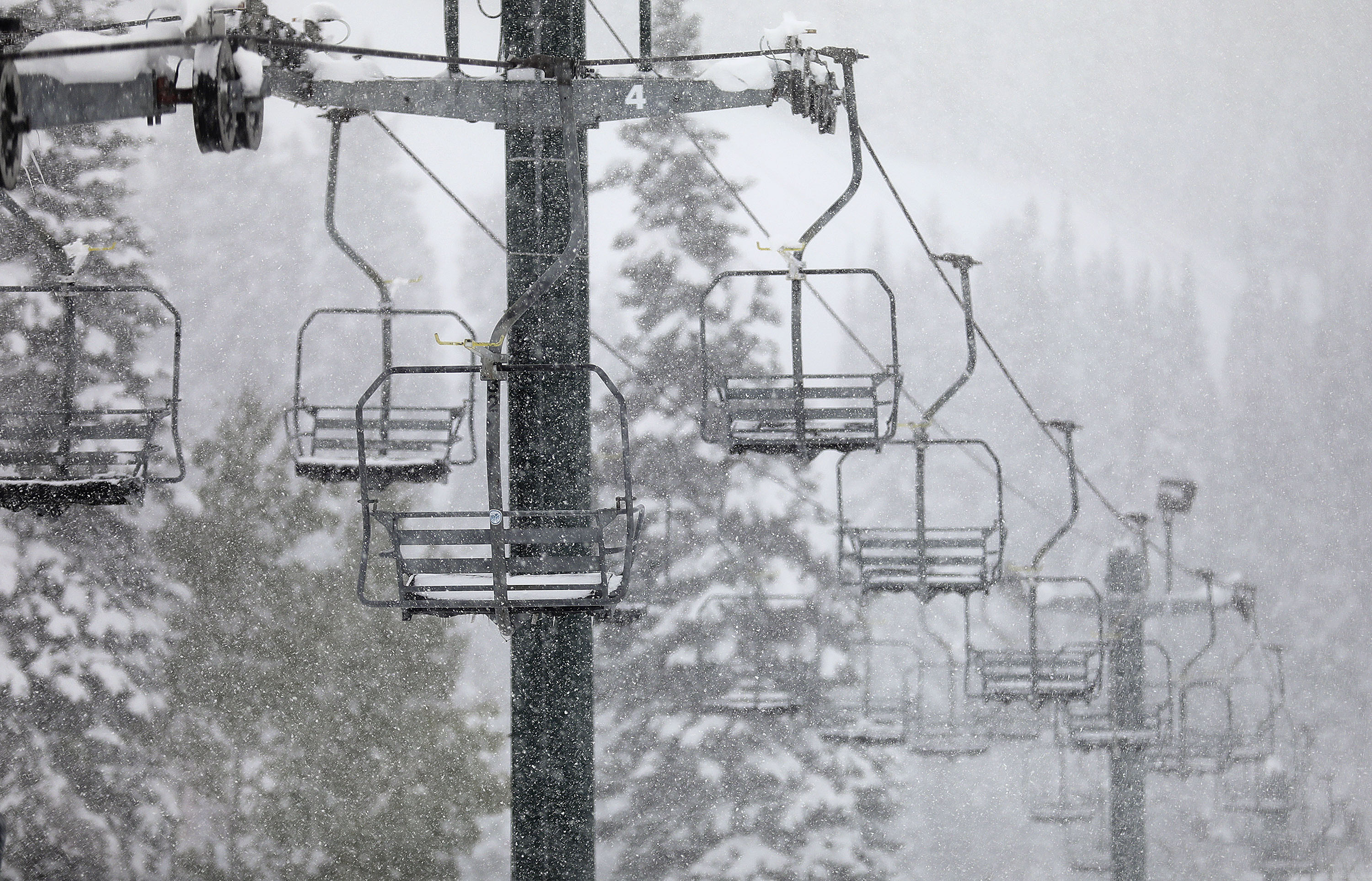The Chickadee lift is pictured at Snowbird in Little Cottonwood Canyon on Thursday, Oct. 14, 2021.