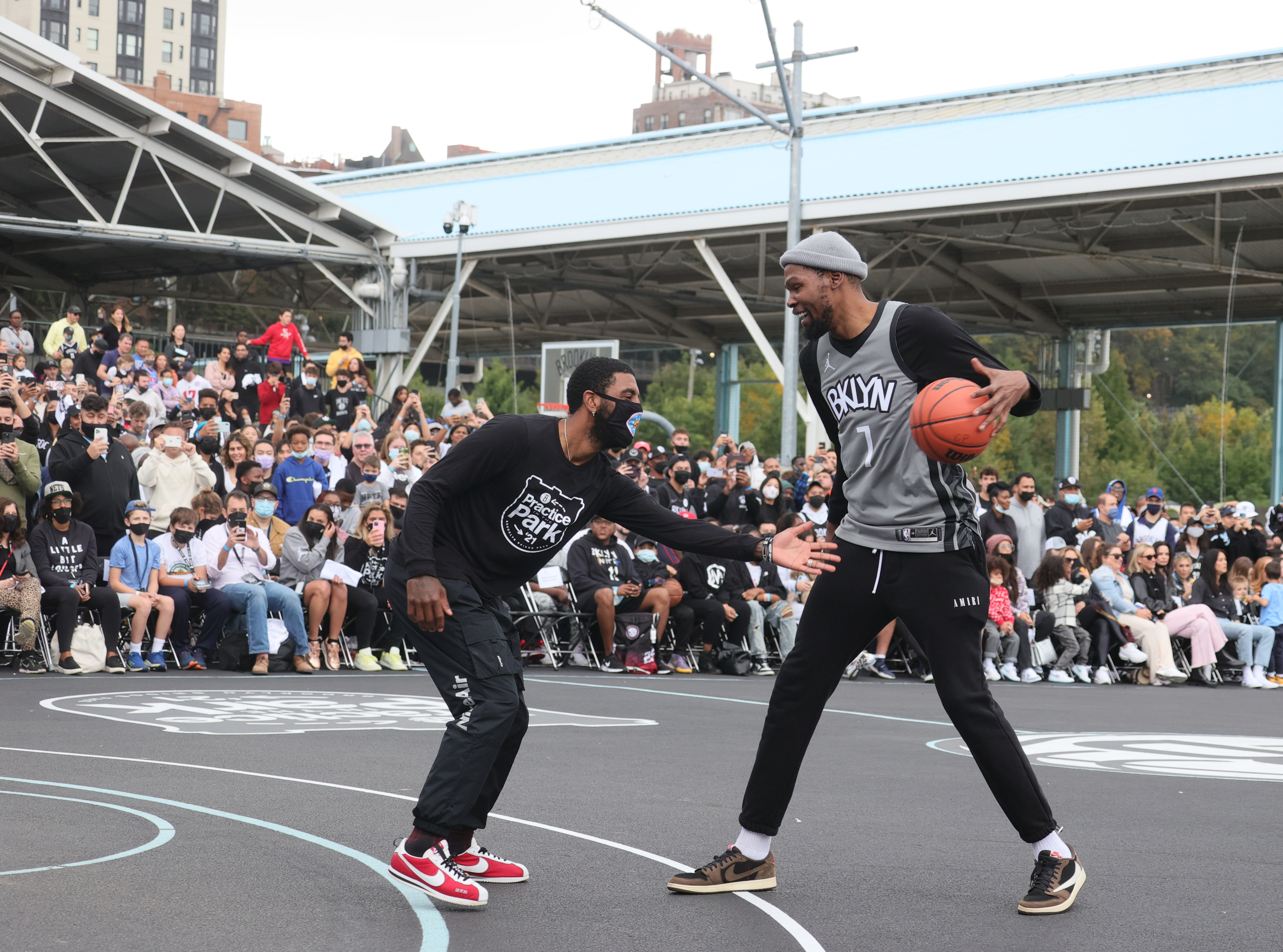 Brooklyn Nets Practice in The Park