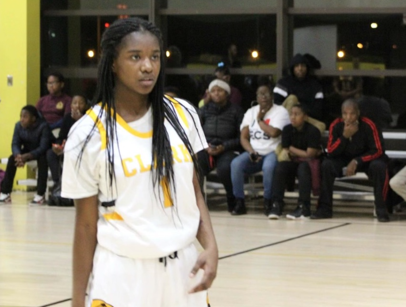 Kierra Moore, who played for the girls' basketball team at Michele Clark Academic Prep Magnet High School, was shot and killed Thursday in Chicago.