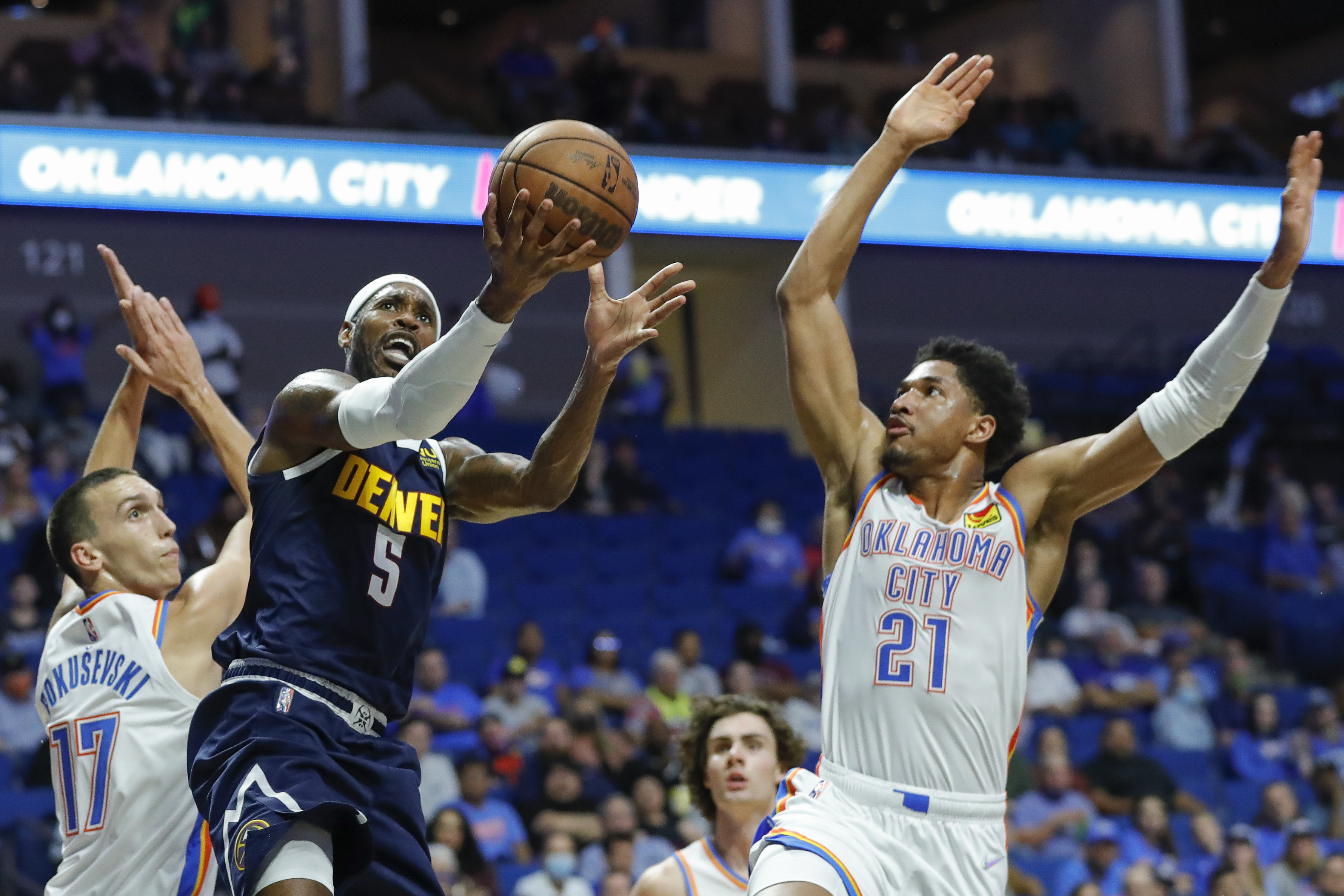 NBA: Preseason-Denver Nuggets at Oklahoma City Thunder