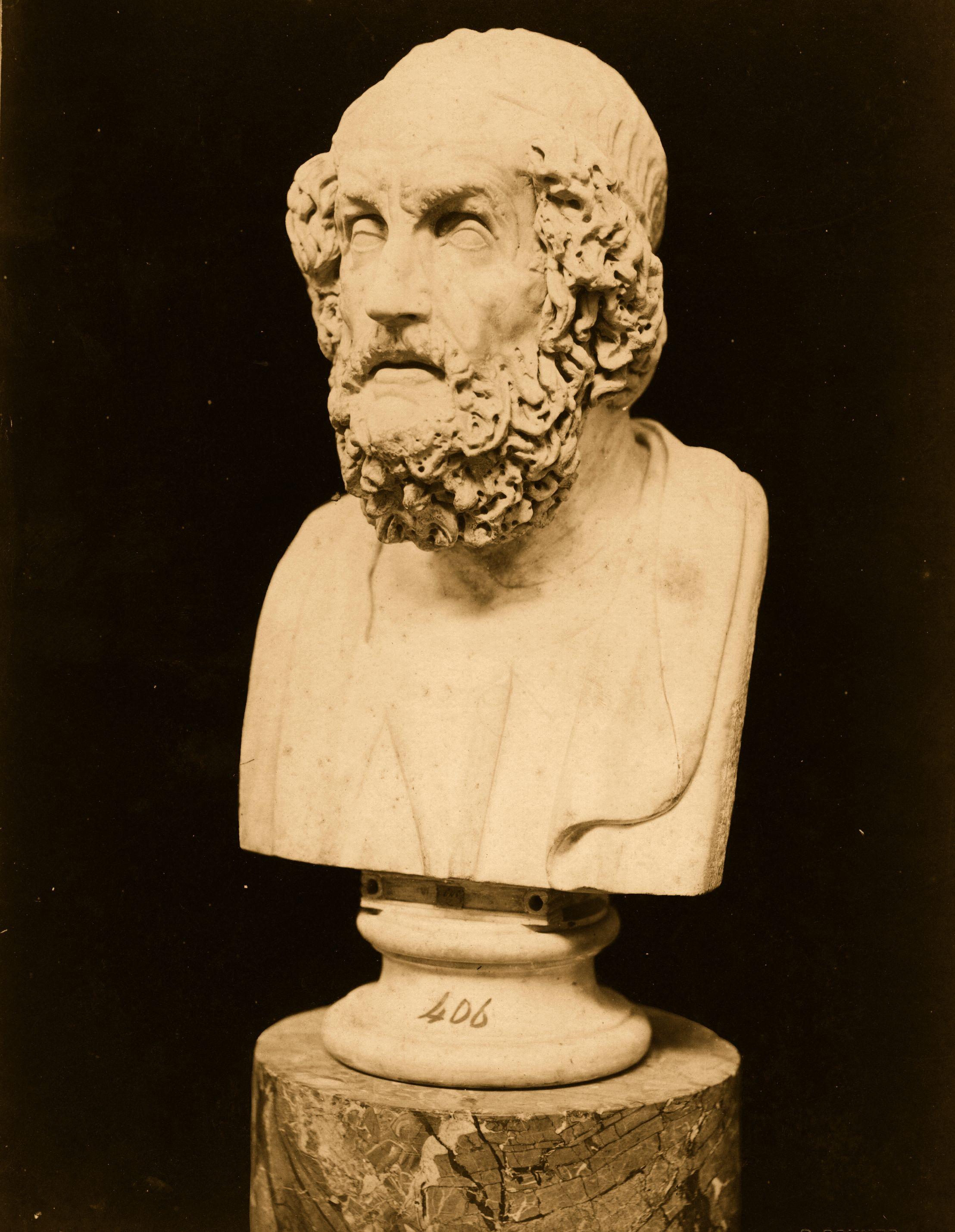 Bust of Homer, the Greek epic poet.