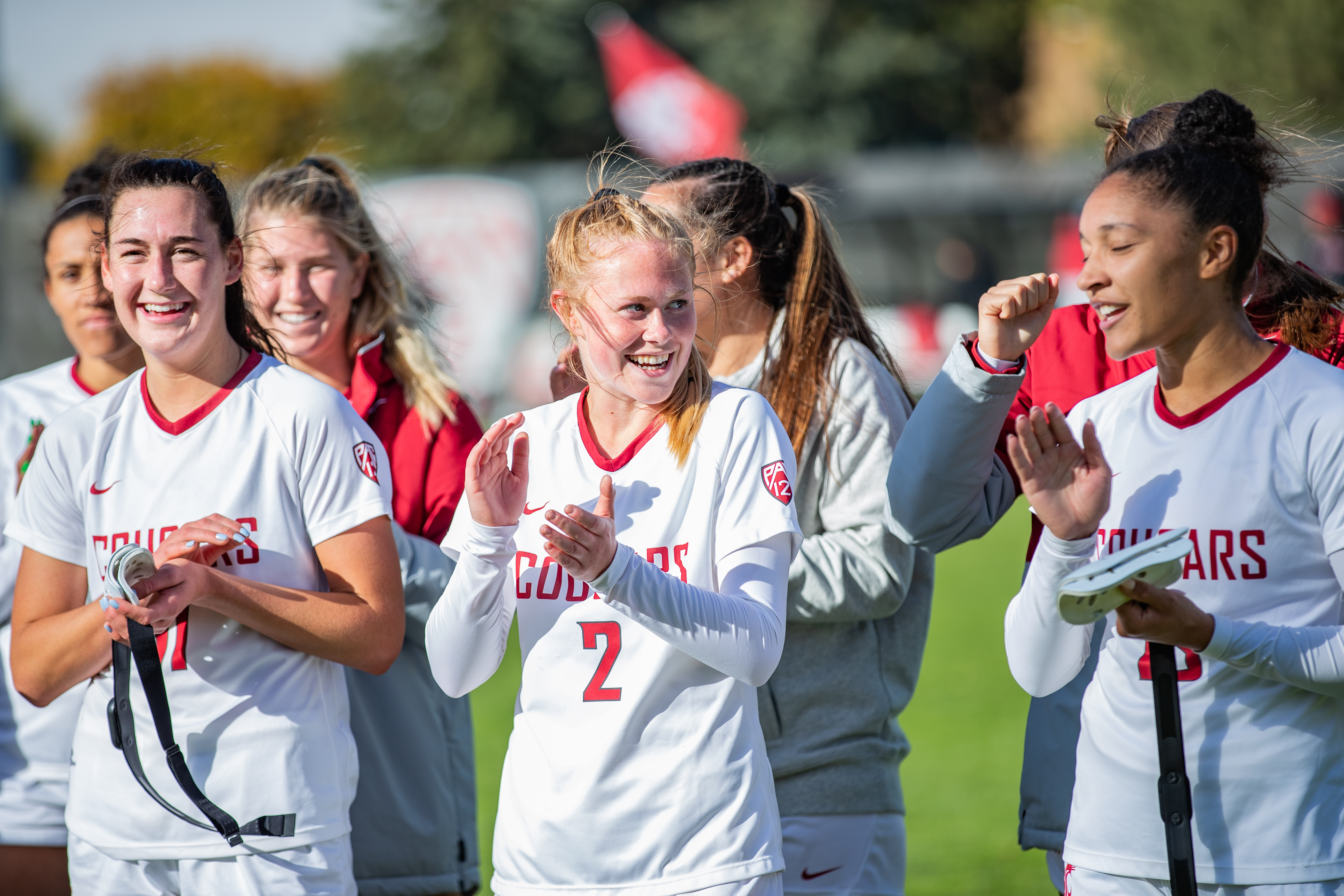 PULLMAN, WA - October 10: Washington State women's soccer team defeats Pac 12 opponent California 2-0 at Lower Soccer Field