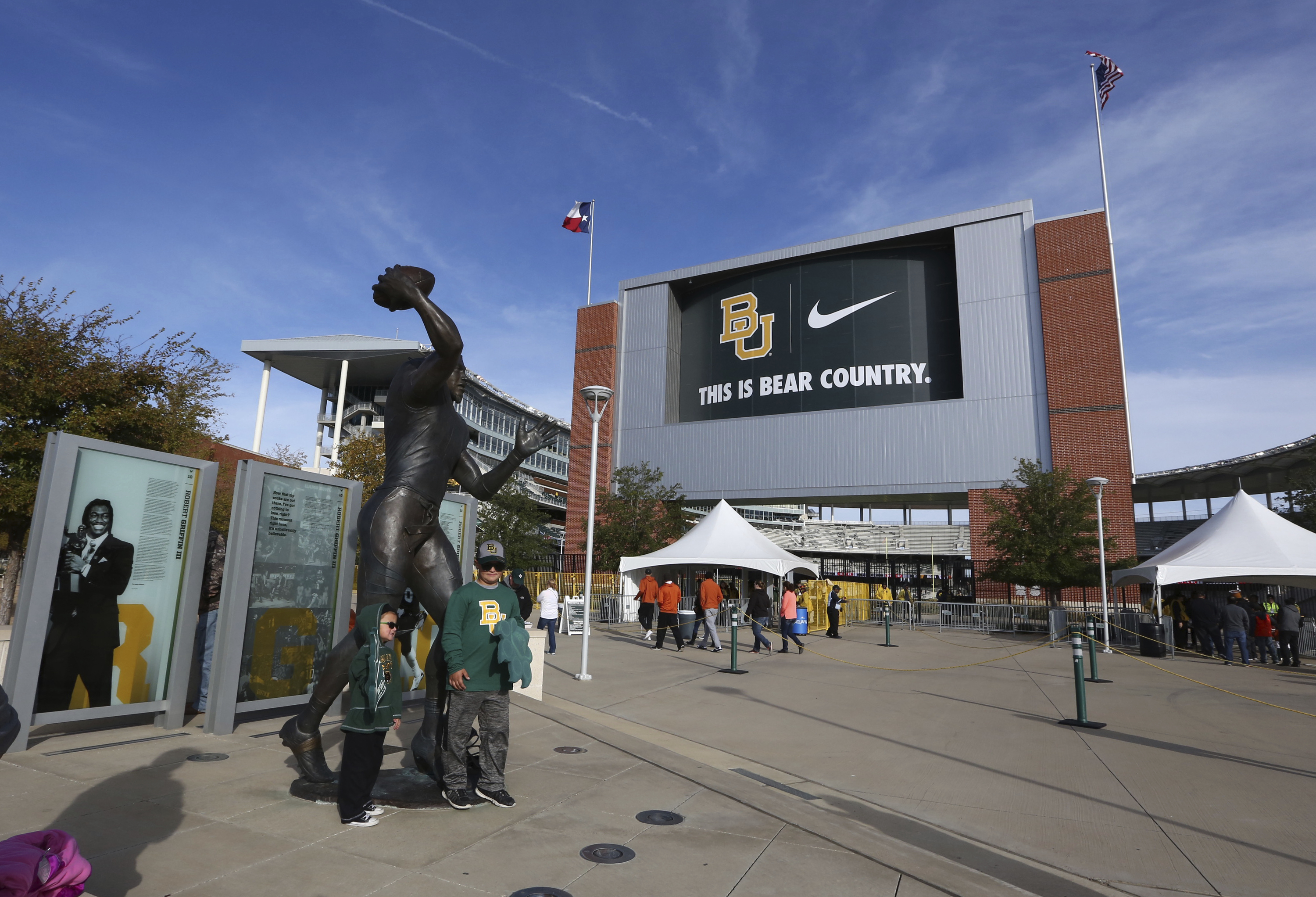 McLane Stadium before the Baylor-Texas matchup Saturday, Oct. 28, 2017, in Waco, Texas.