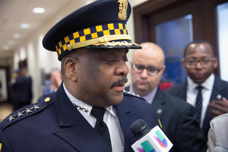 Former Chicago Police Supt. Eddie Johnson.