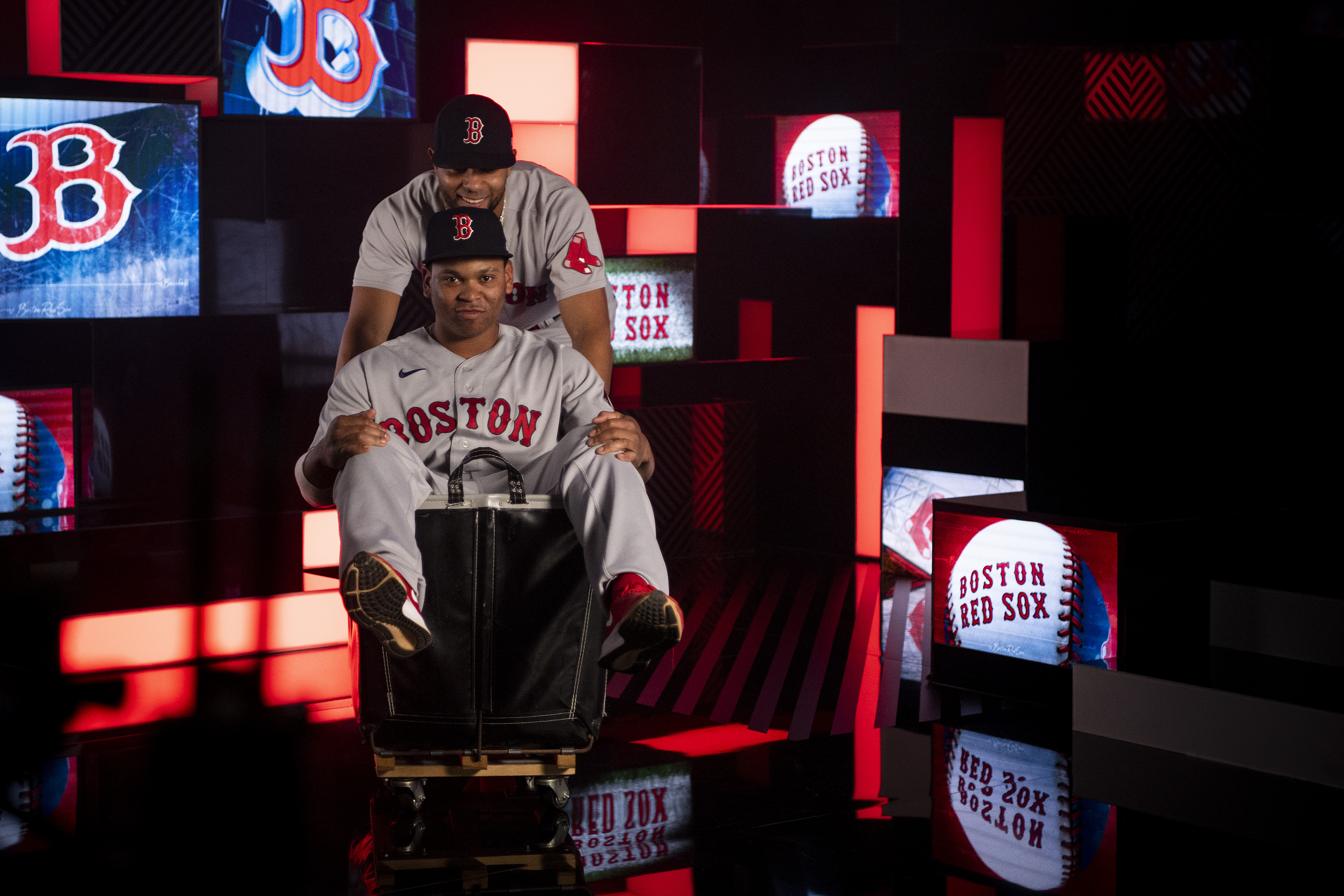 American League Championship Series Boston Red Sox Workout