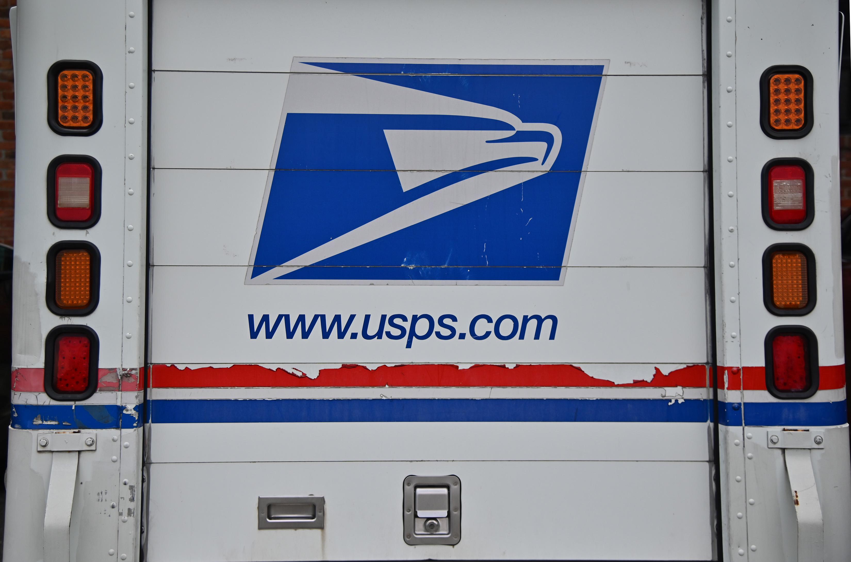 A U.S. Postal Service truck.