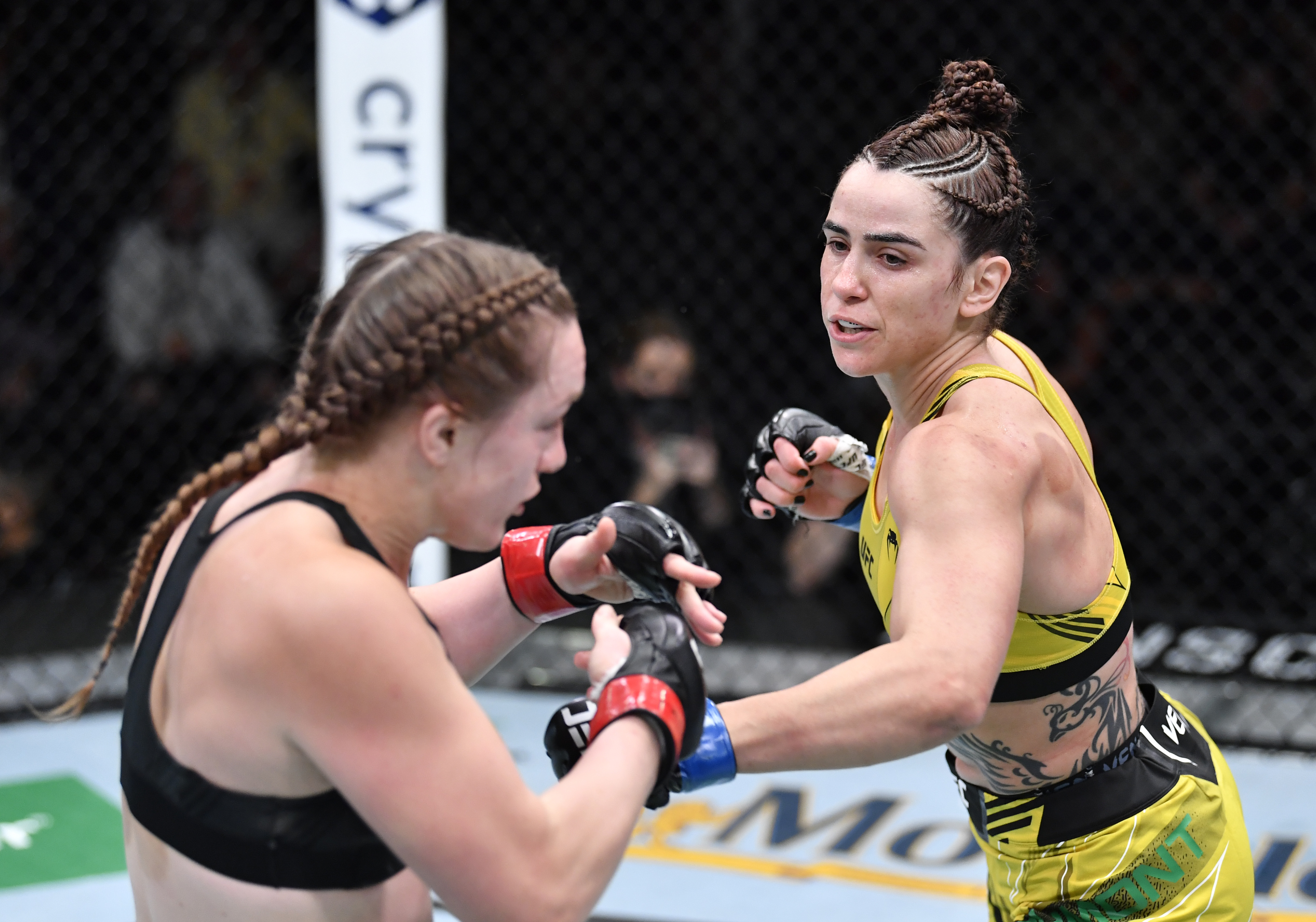Norma Dumont during her fight with Aspen Ladd at UFC Vegas 40.