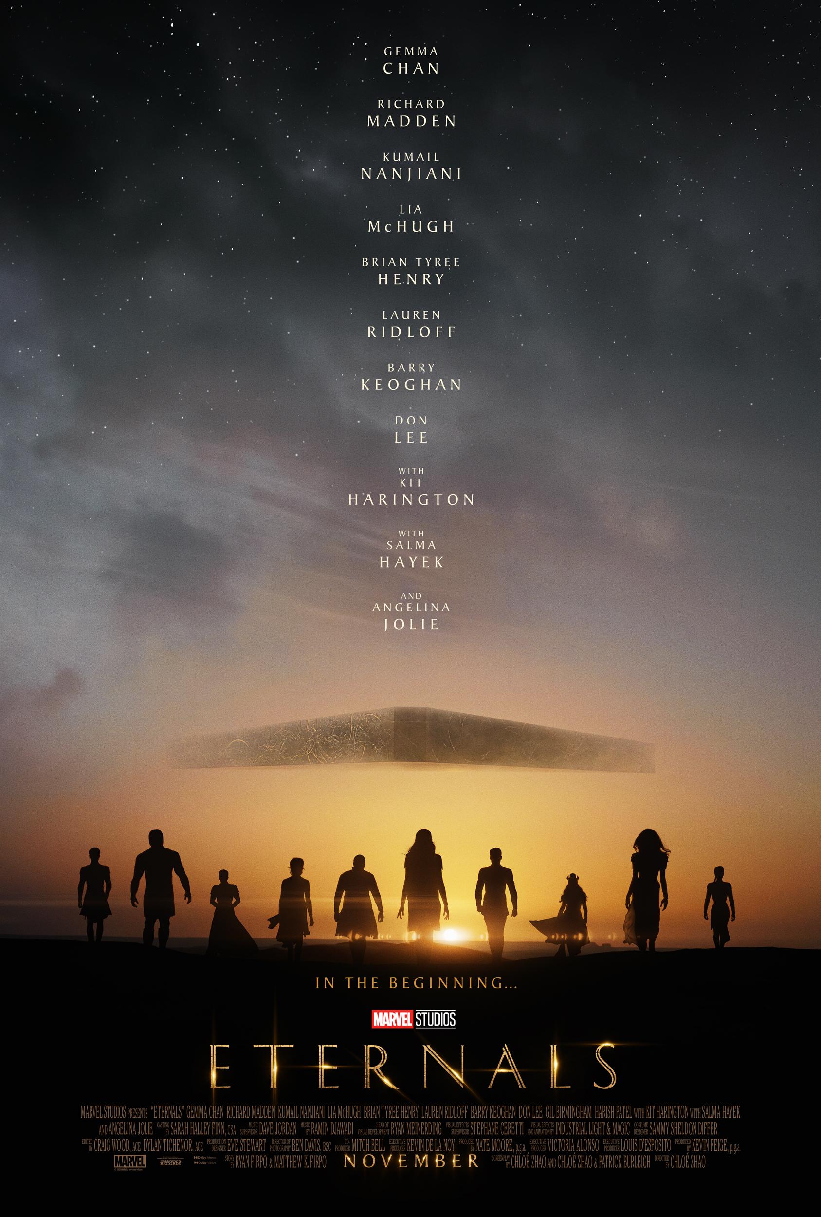 Marvel Studios' poster for 'Eternals.'