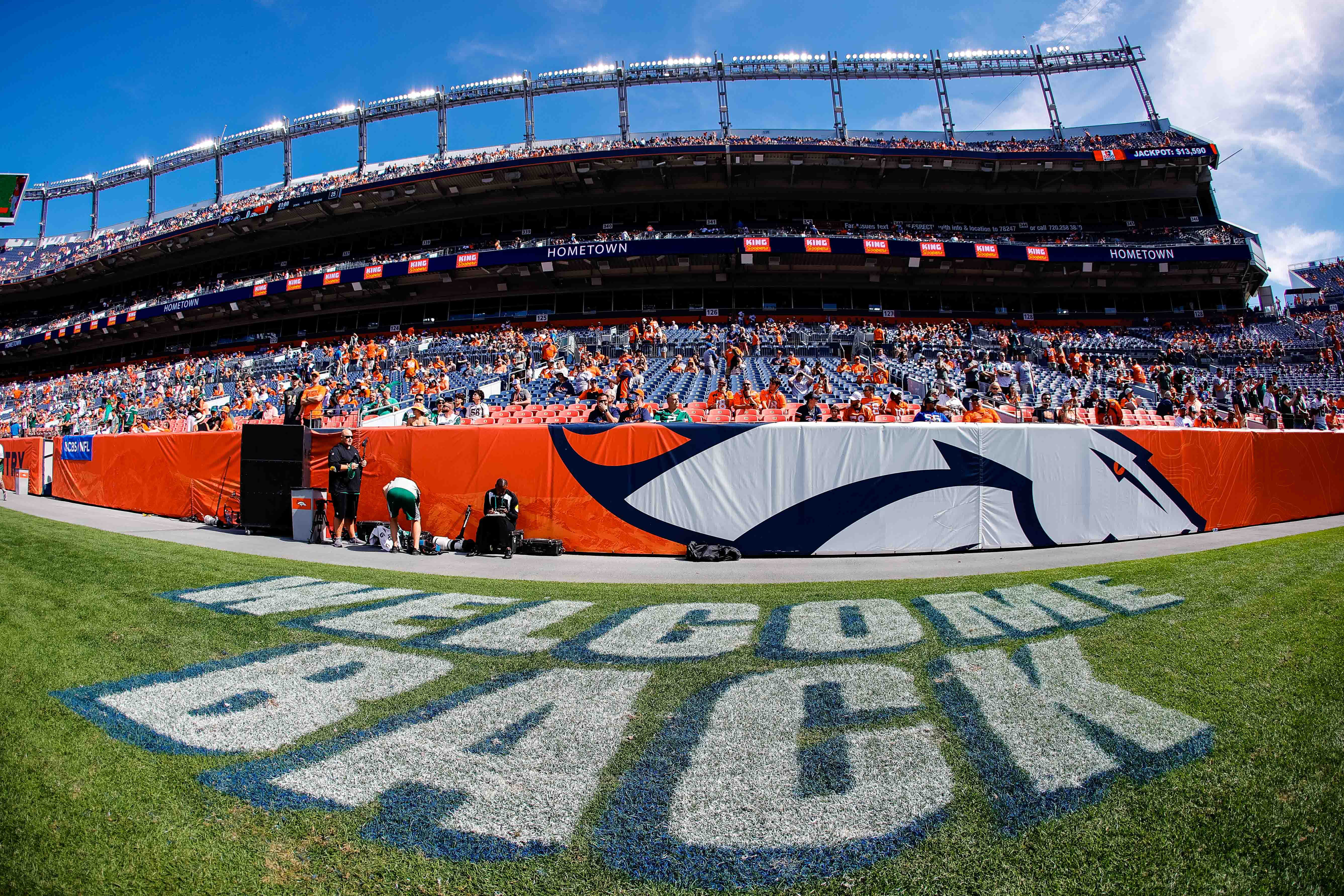 A general view before the game between the Denver Broncos and the New York Jets at Empower Field at Mile High.