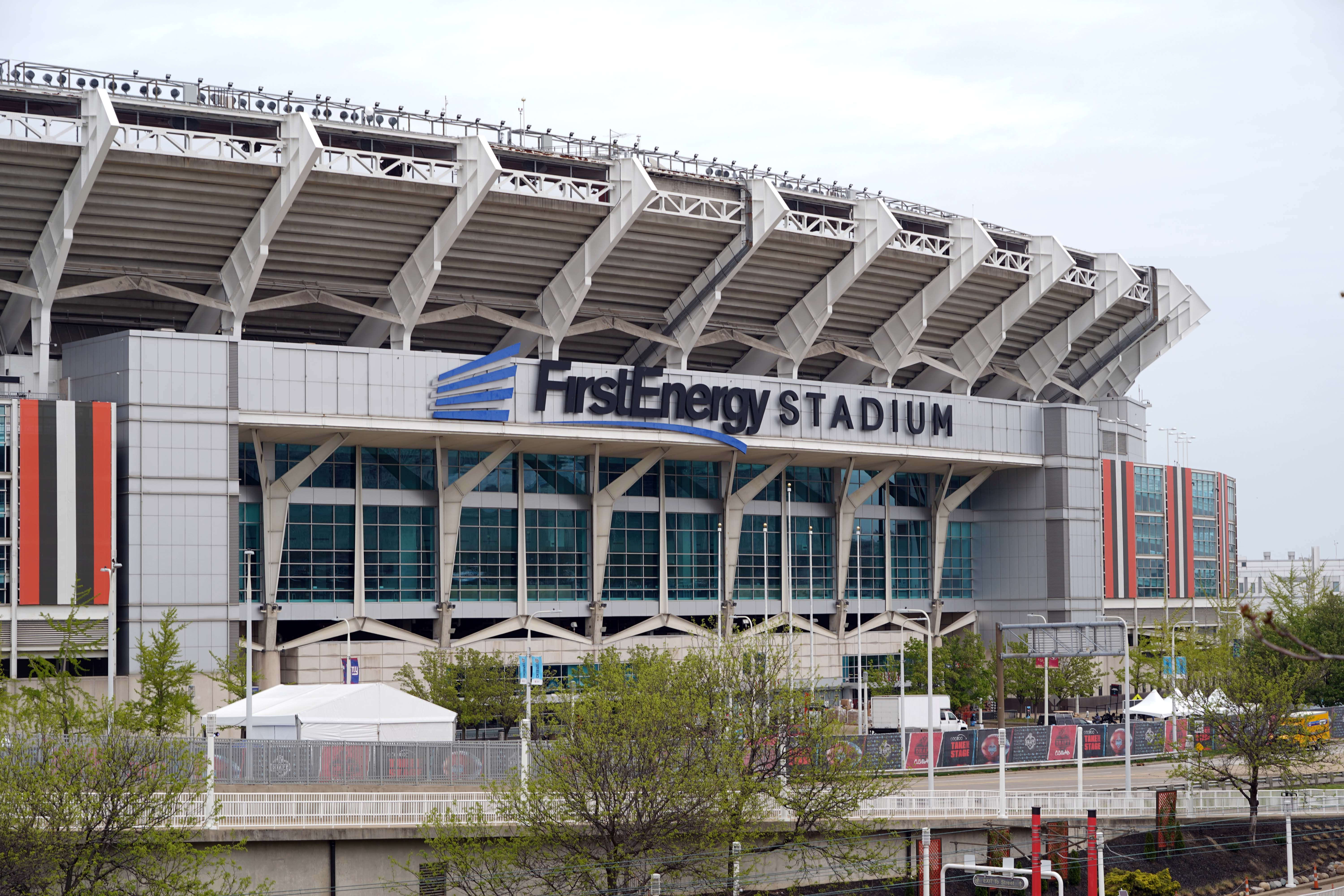 A general overall view of FirstEnergy Stadium. The stadium is the home of the Cleveland Browns and the site of the 2021 NFL Draft.