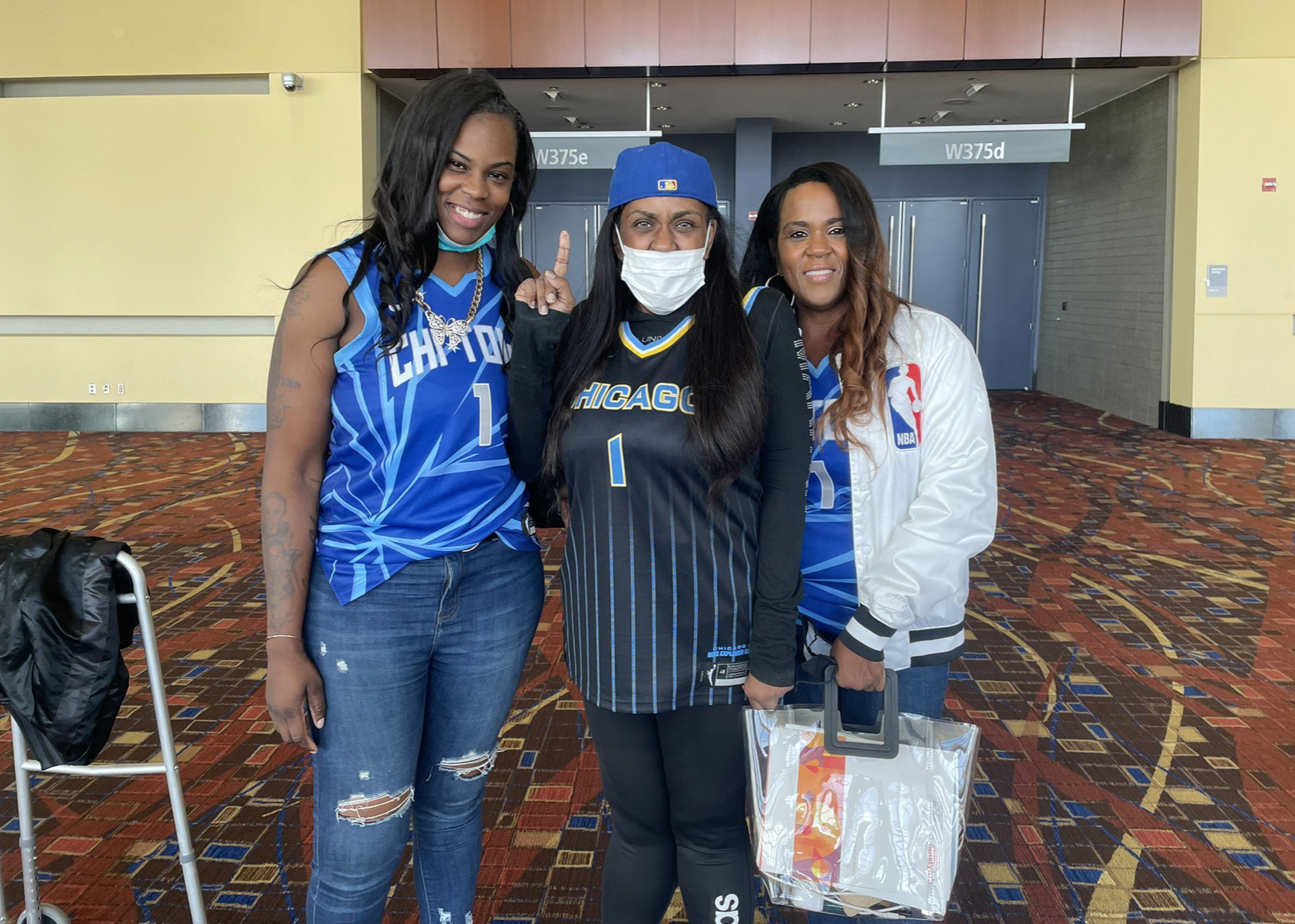 Breannah Ranger (left) is set to take in Game 4 of the WNBA Finals on Sunday with her aunt, Marsha Brawner (middle), and mother Michelle Ranger (right).