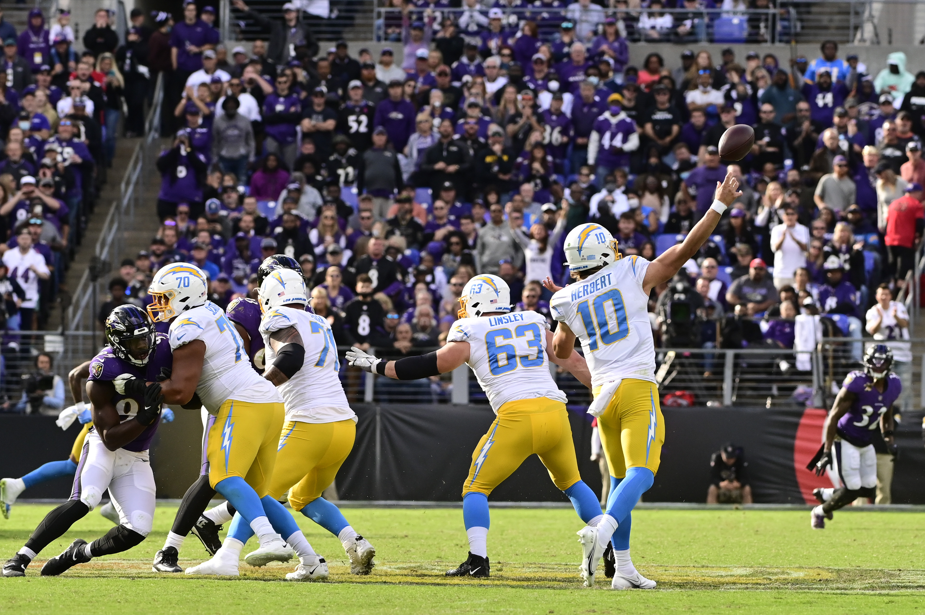 NFL: Los Angeles Chargers at Baltimore Ravens