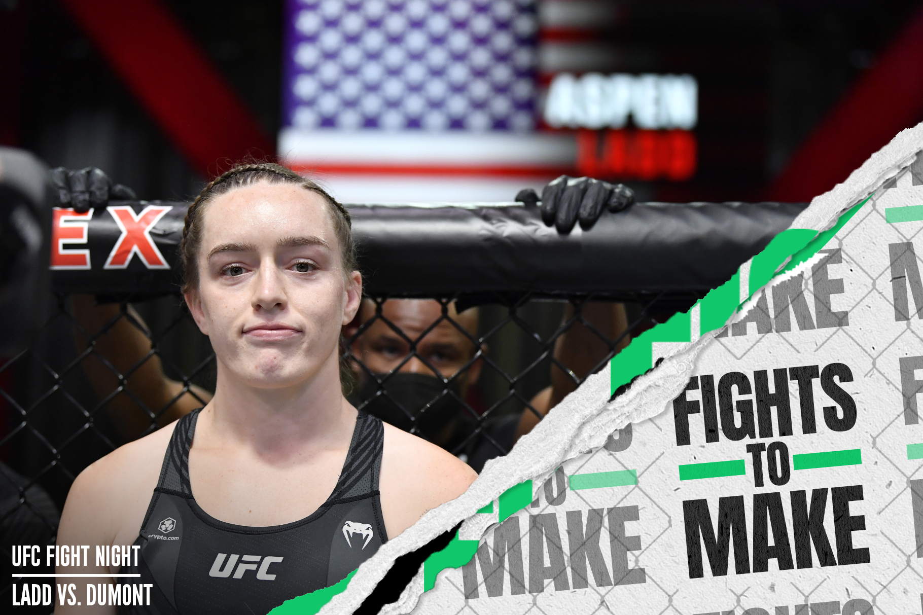 Aspen Ladd before her UFC Vegas 40 loss to Norma Dumont.
