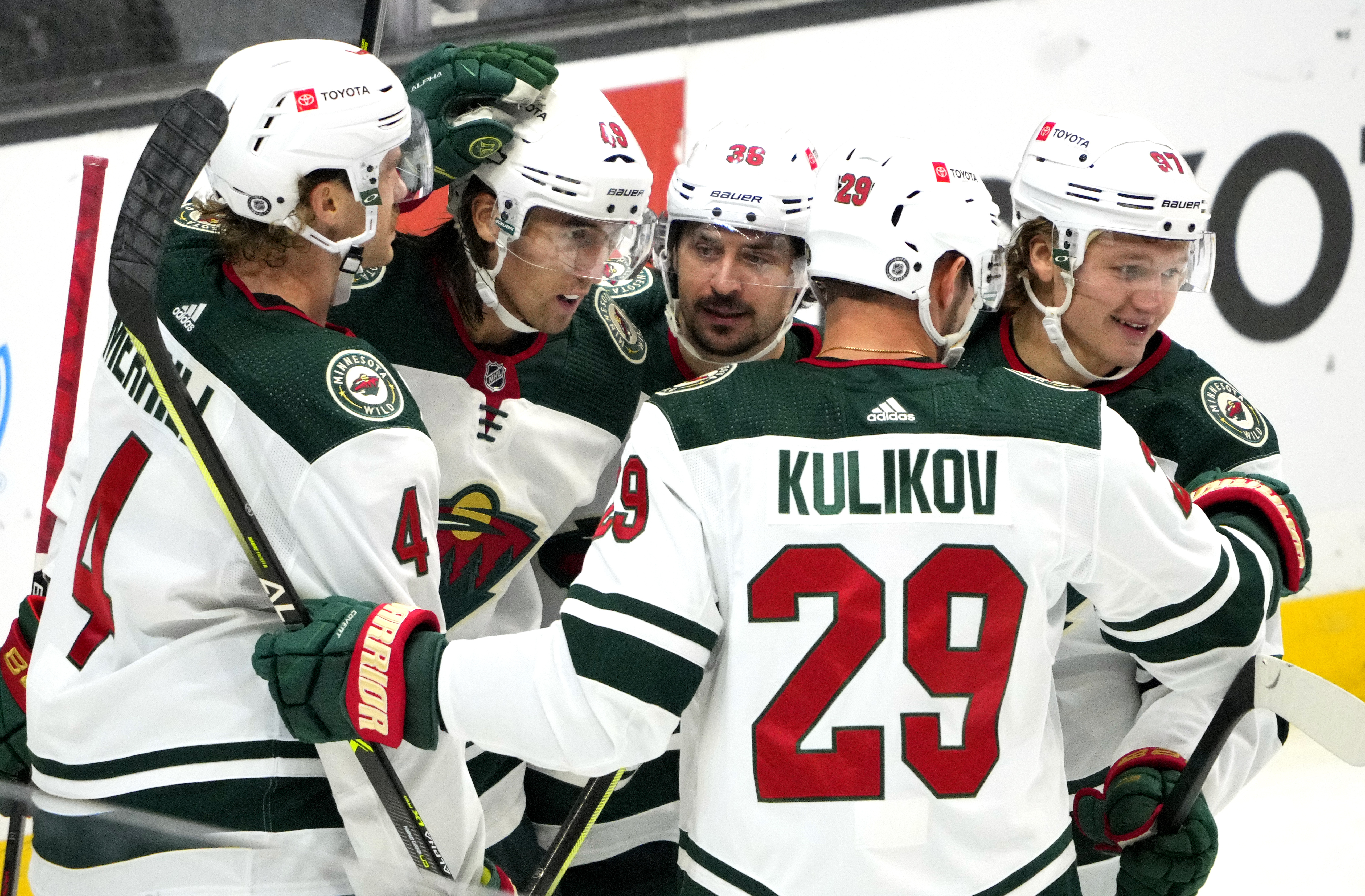 Minnesota Wild defeated the Los Angeles Kings 3-2 during a NHL hockey game at Staples Center in Los Angeles.
