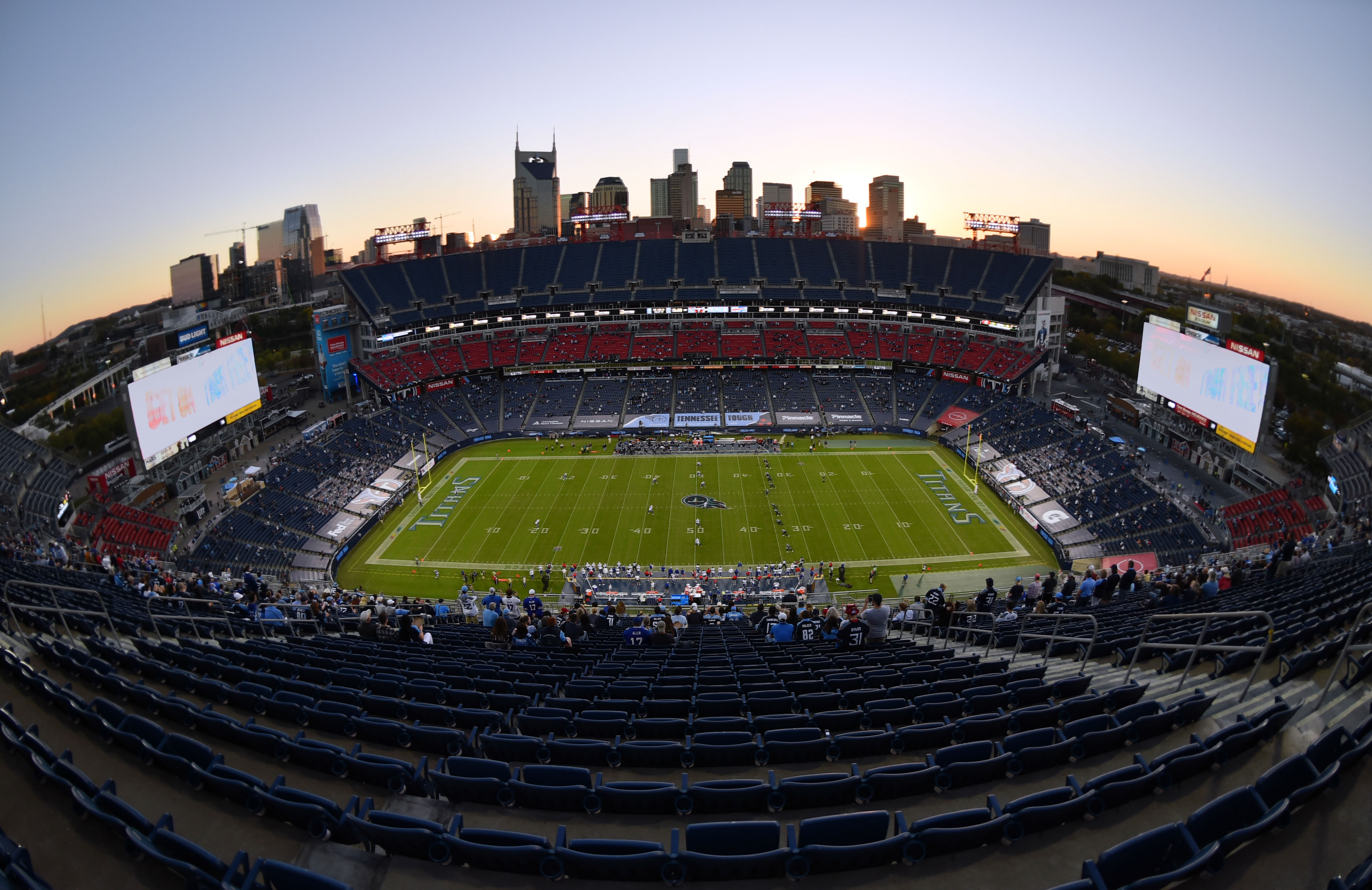 General view Nissan Stadium prior to the kickoff of the game between the Tennessee Titans and the Buffalo Bills.