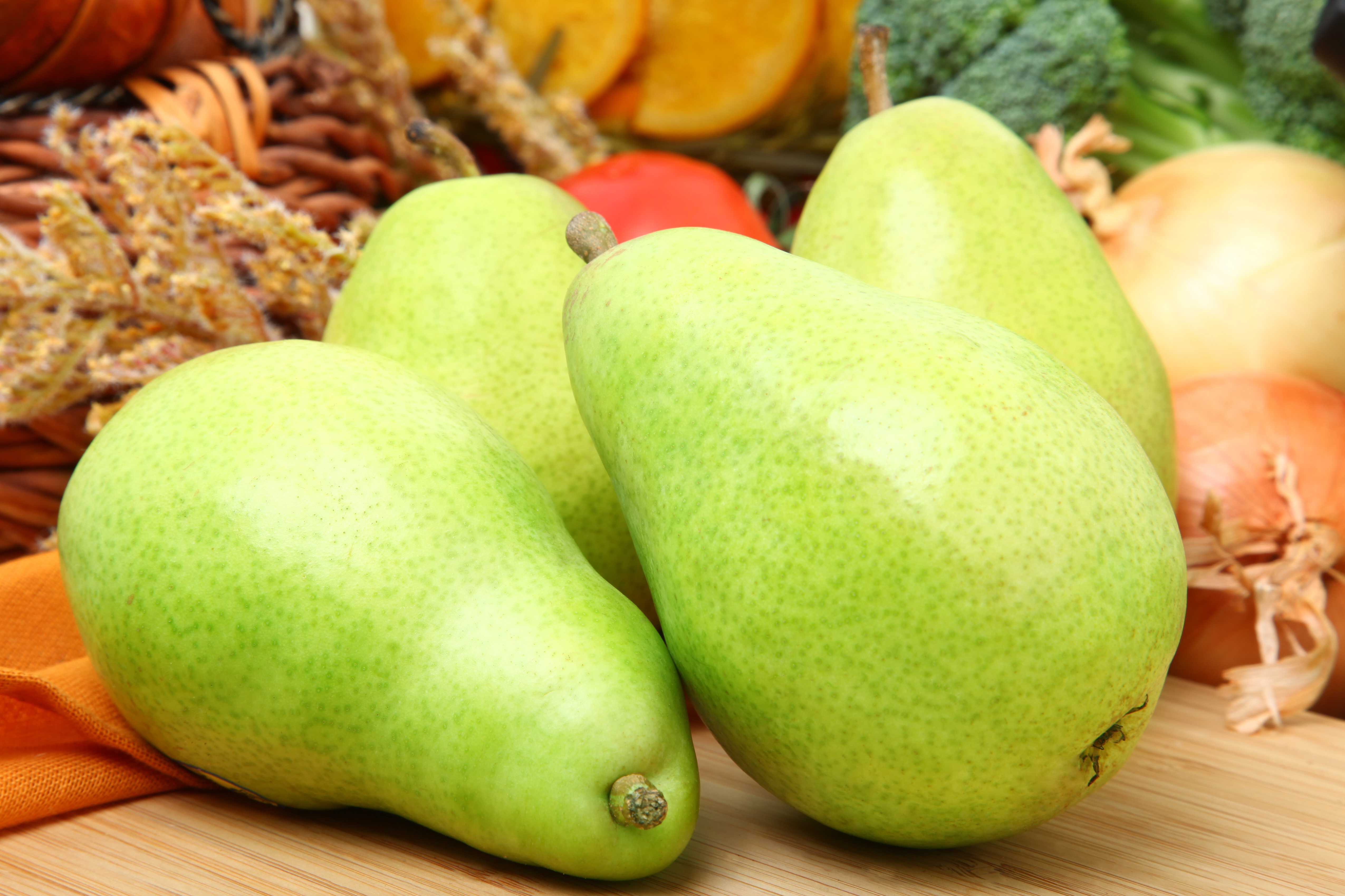 Anjou pears are the most common winter pear.