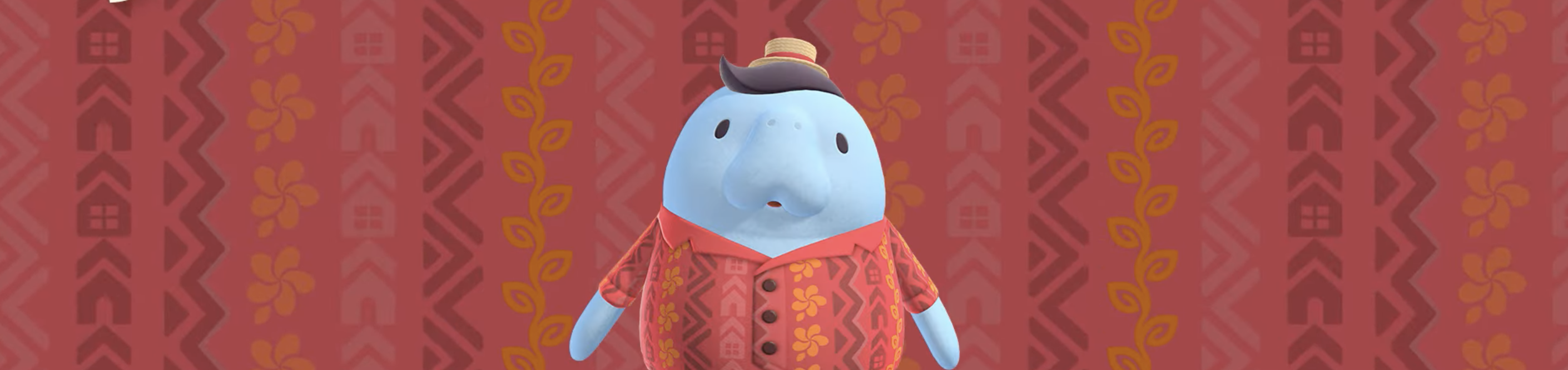 a manatee from animal crossing new horizons