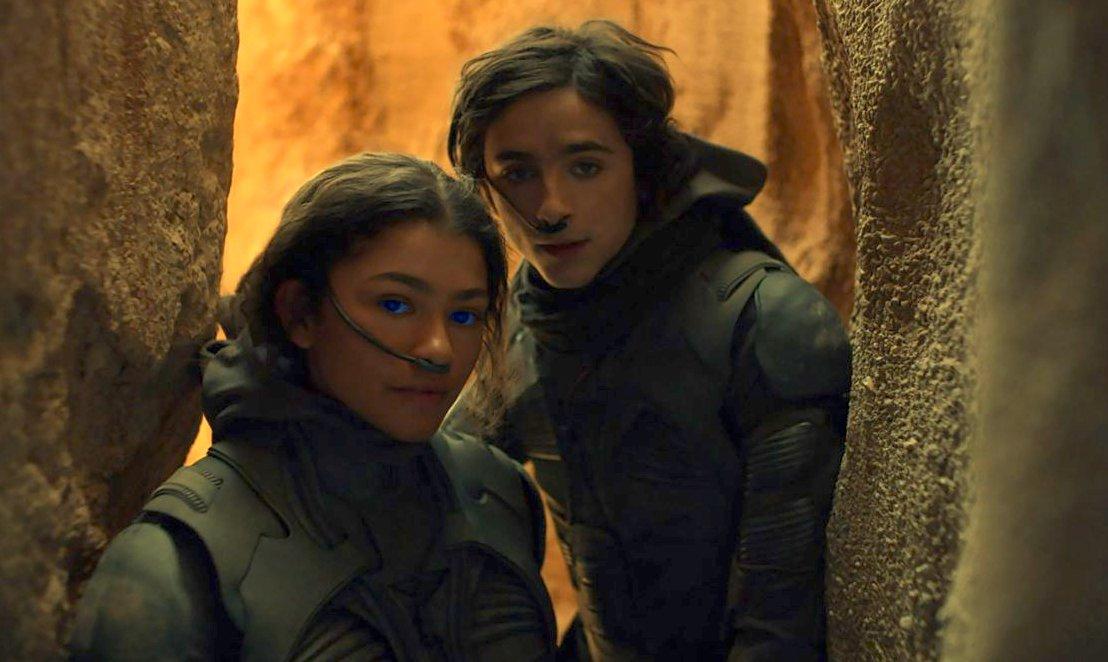 Timothee Chalamet and Zendaya in Dune 2020