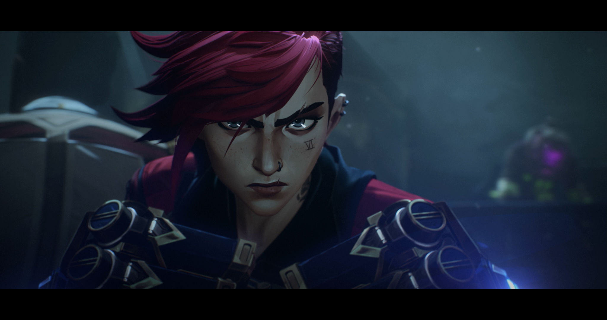 Vi from League of Legends Arcane ready to fight