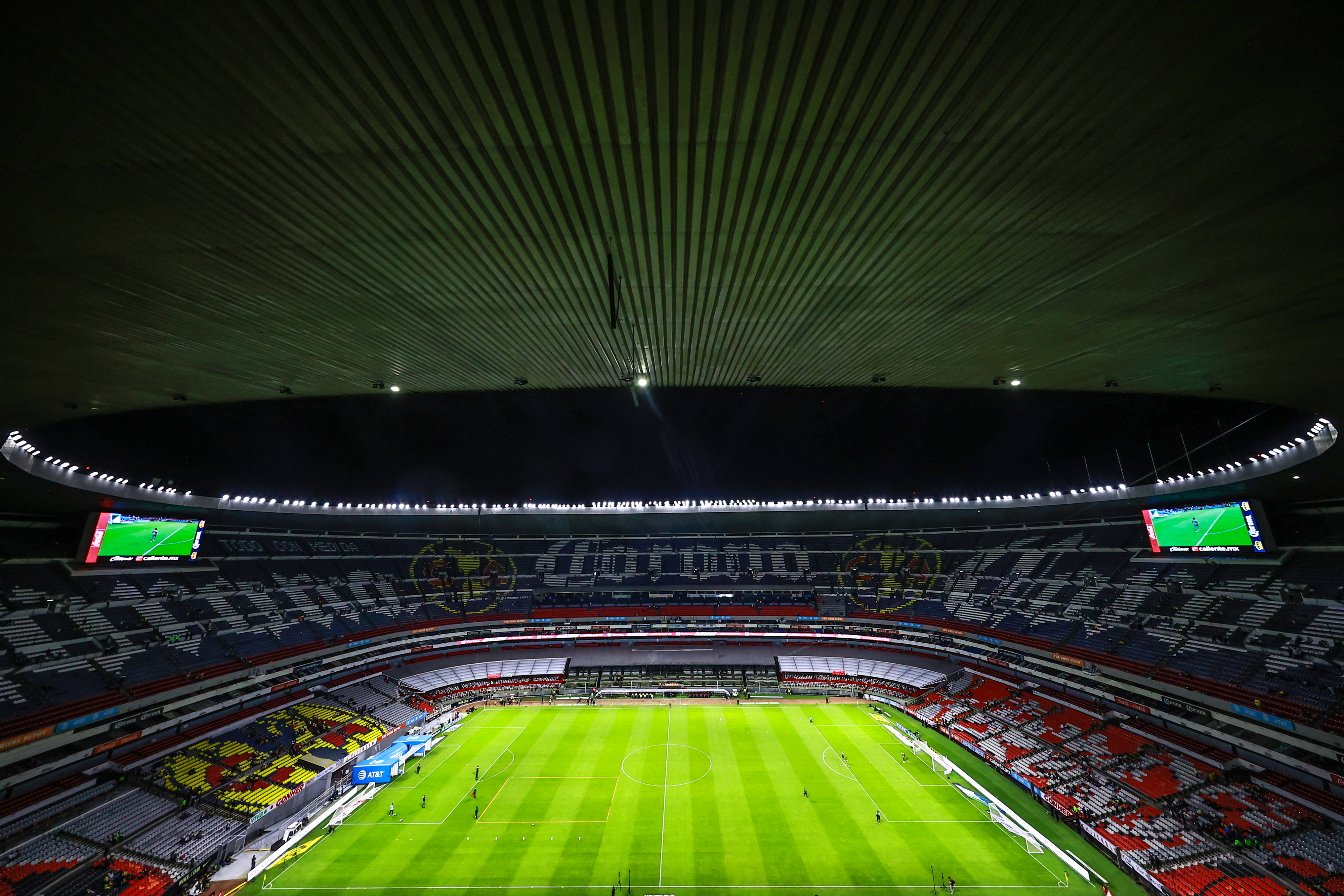 General view of Azteca stadium prior the 8th round match between América and Mazatlan FC as part of the Torneo Grita Mexico A21 Liga MX at Azteca Stadium on September 11, 2021 in Mexico City, Mexico.