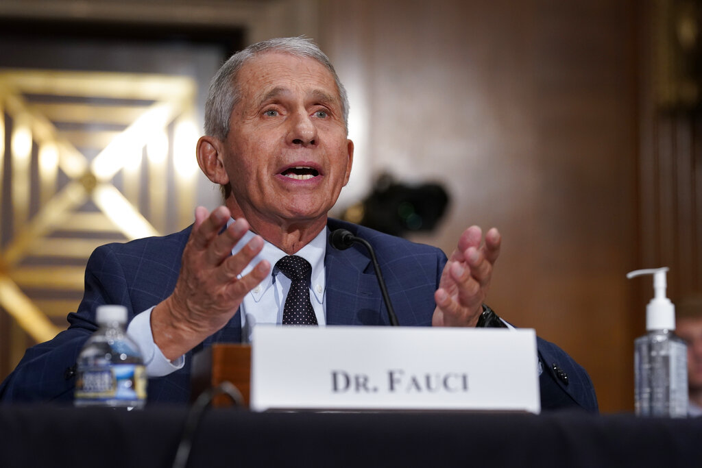 Top infectious disease expert Dr. Anthony Fauci on Capitol Hill in Washington