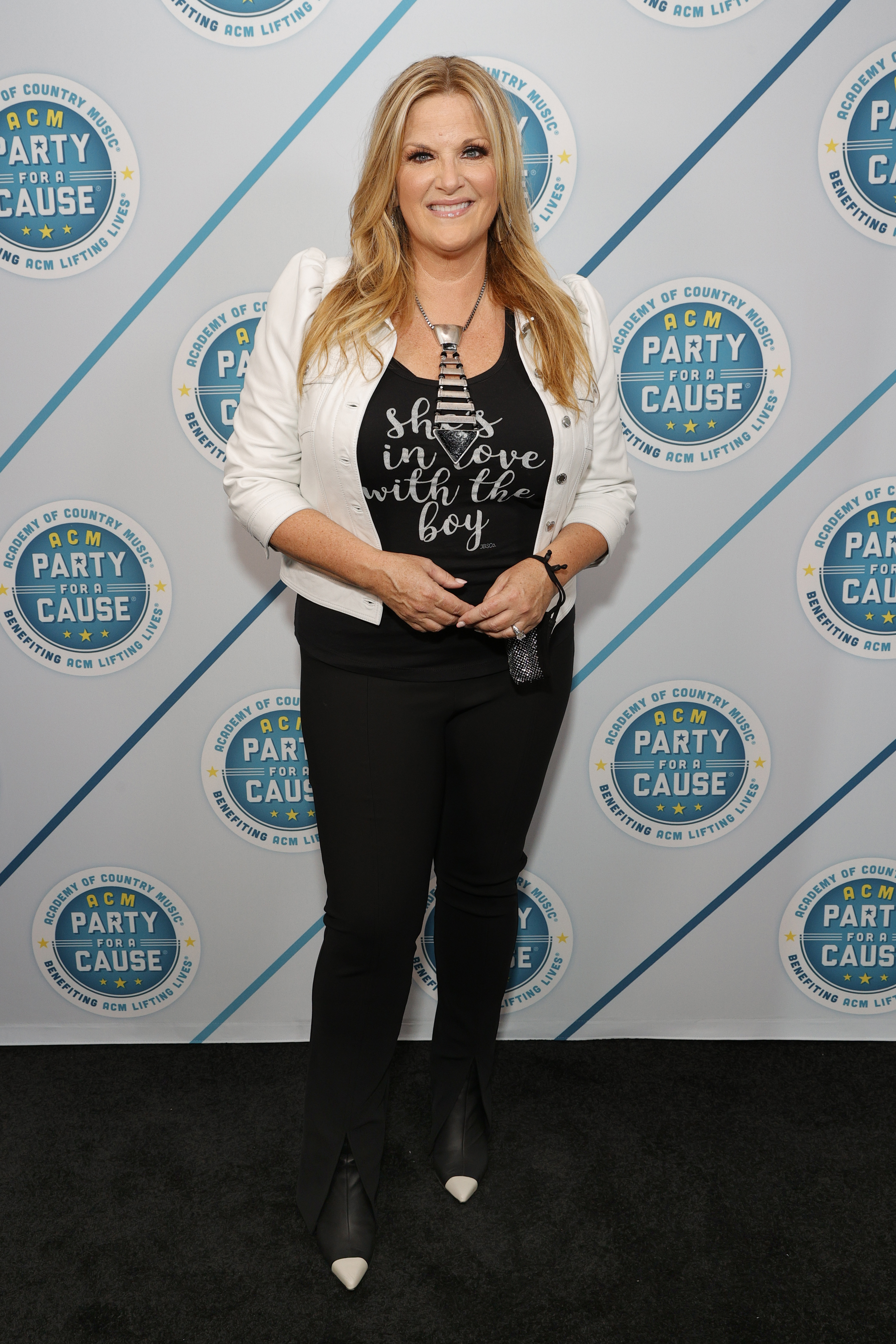 Trisha Yearwood attends the ACM Party For A Cause at Ascend Amphitheater on August 24, 2021 in Nashville, Tennessee.