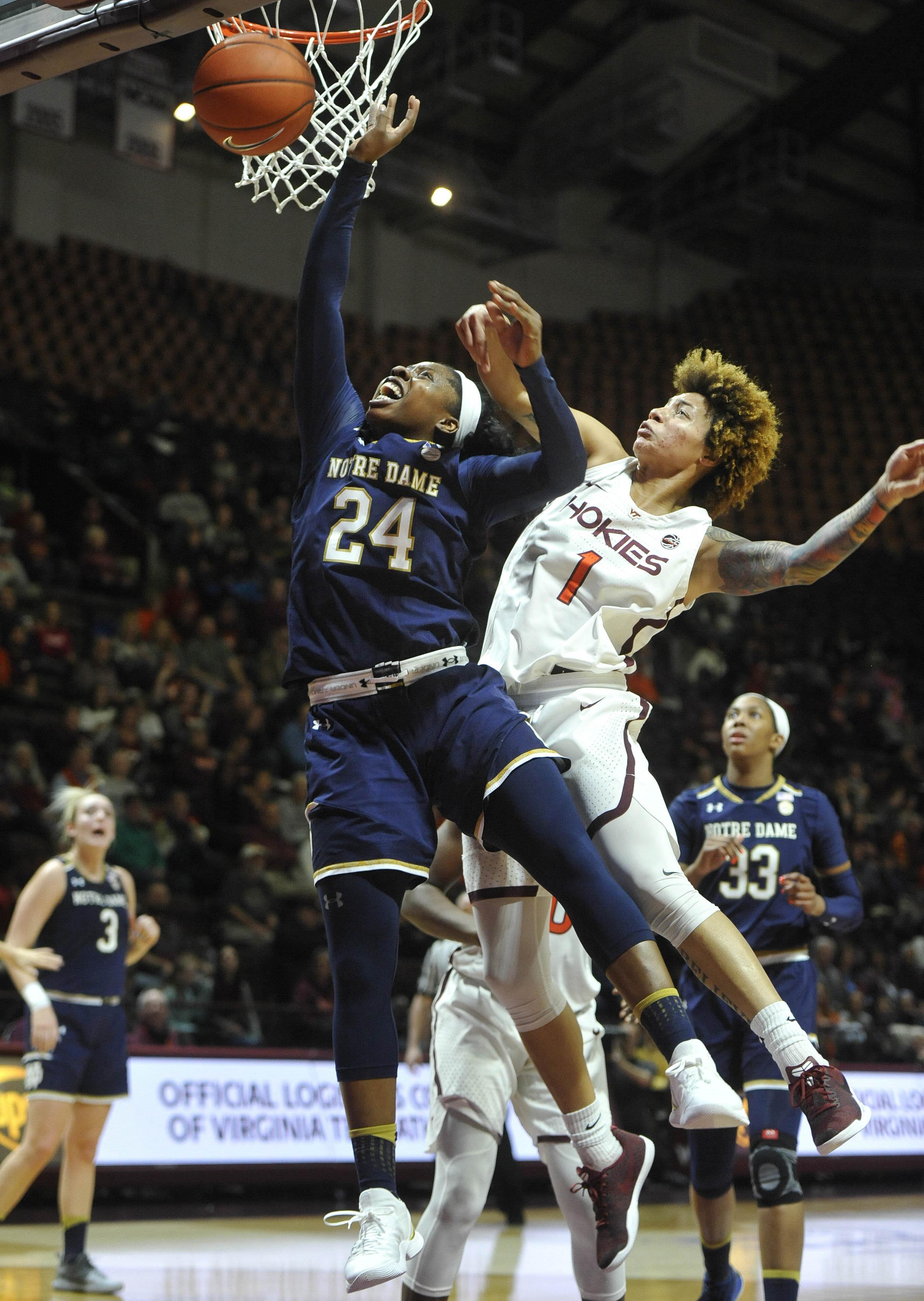 NCAA Womens Basketball: Notre Dame at Virginia Tech