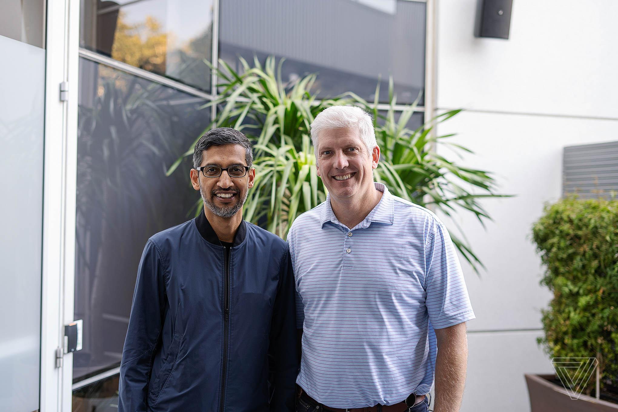 Sundar Pichai (left) and Rick Osterloh (right)
