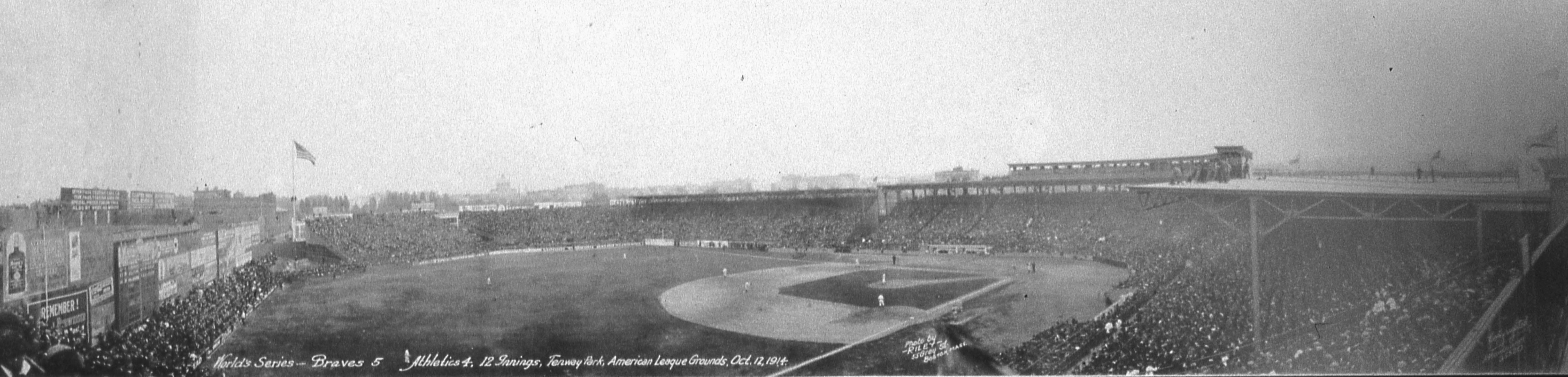 1914 World Series Fenway Park Panoramic