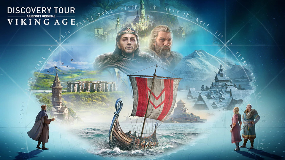 composite image advertising Assassin's Creed Discovery Tour: Viking Age