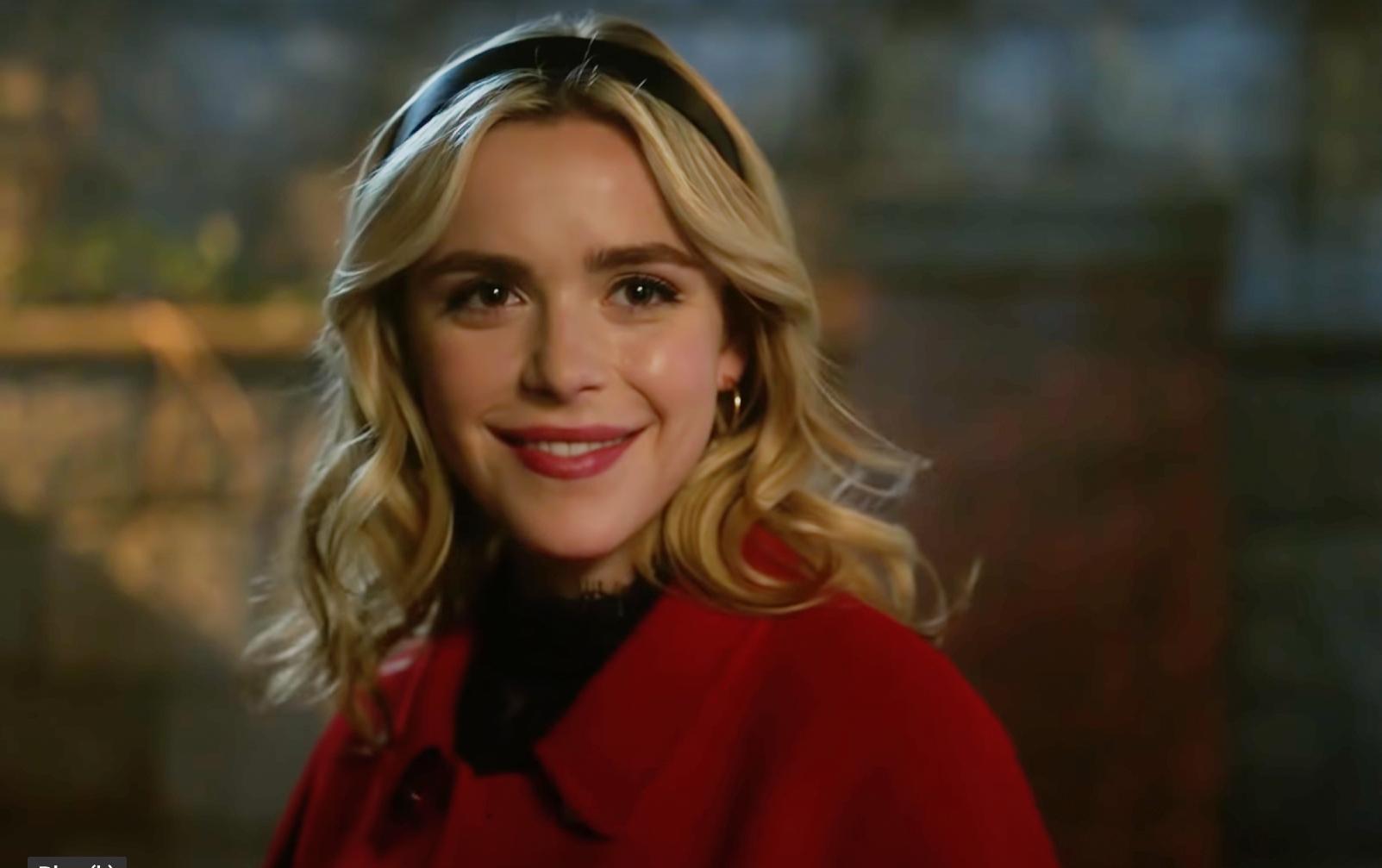 Kiernan Shipka as Sabrina Spellman in Riverdale's sixth season