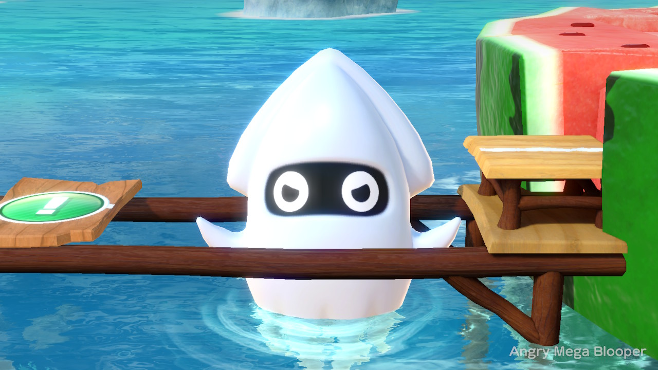 a giant angry squid in Super Mario Party