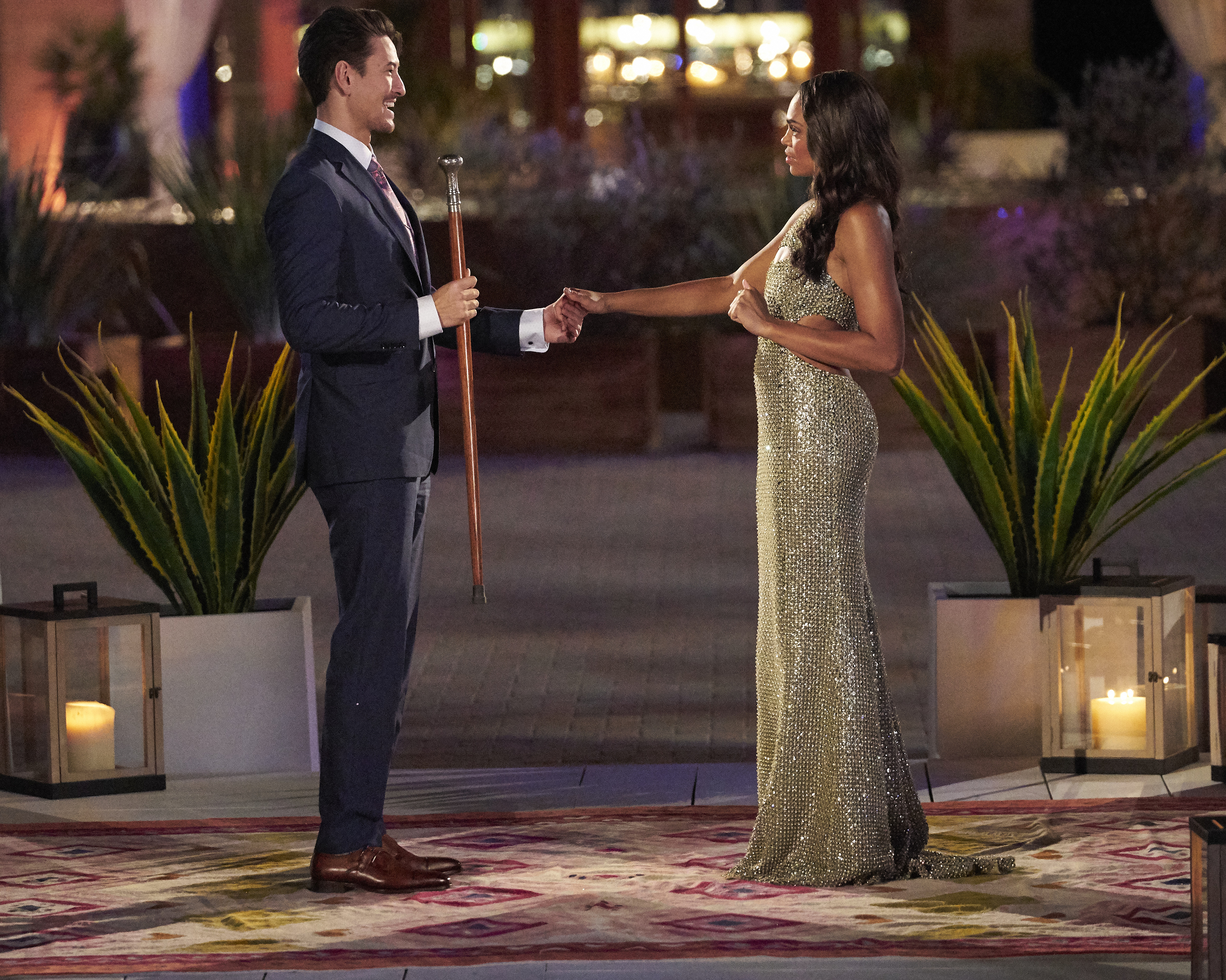 """Garrett Aida, a former BYU student, and Michelle Young appear on """"The Bachelorette."""""""