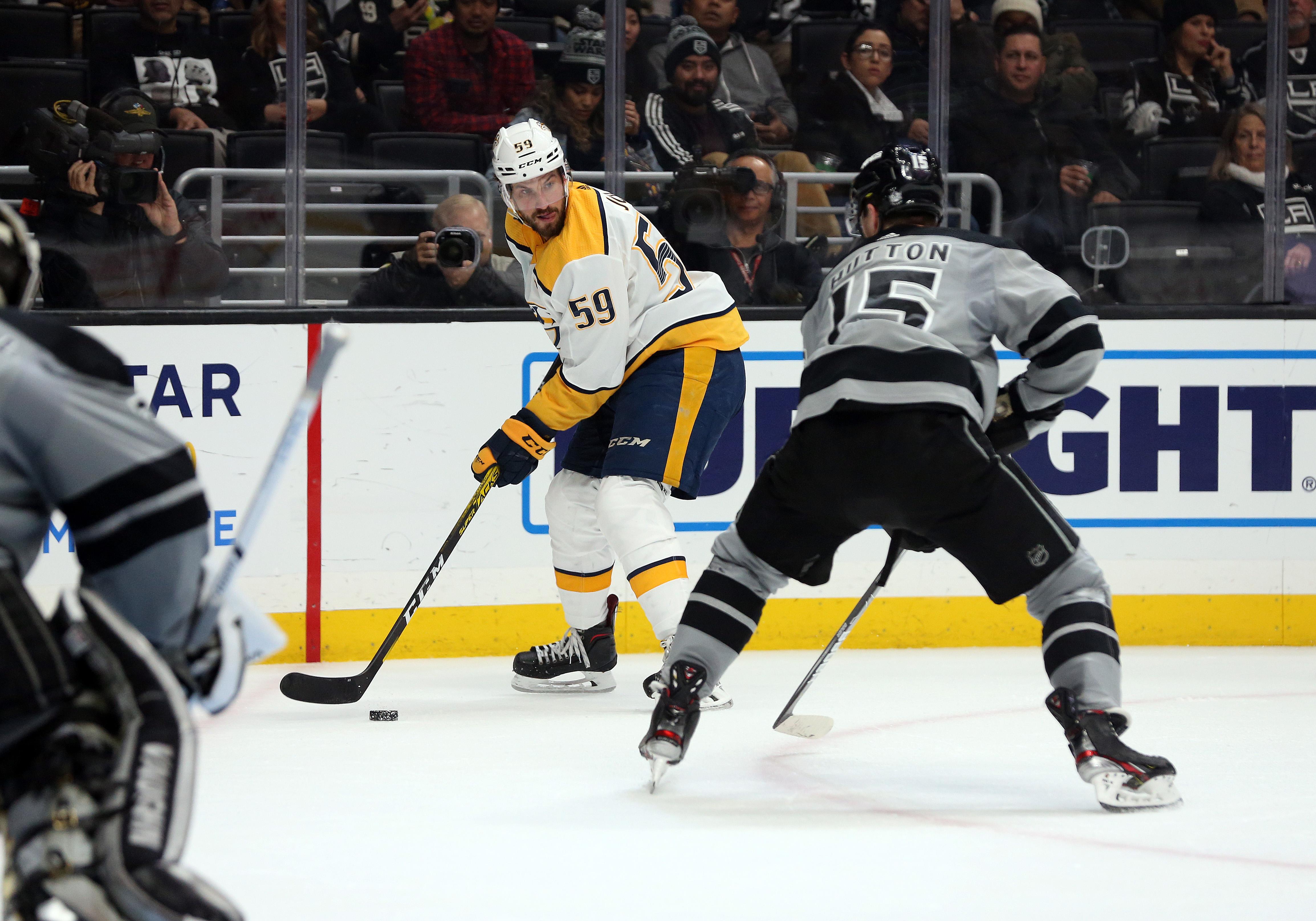 NHL: JAN 04 Predators at Kings