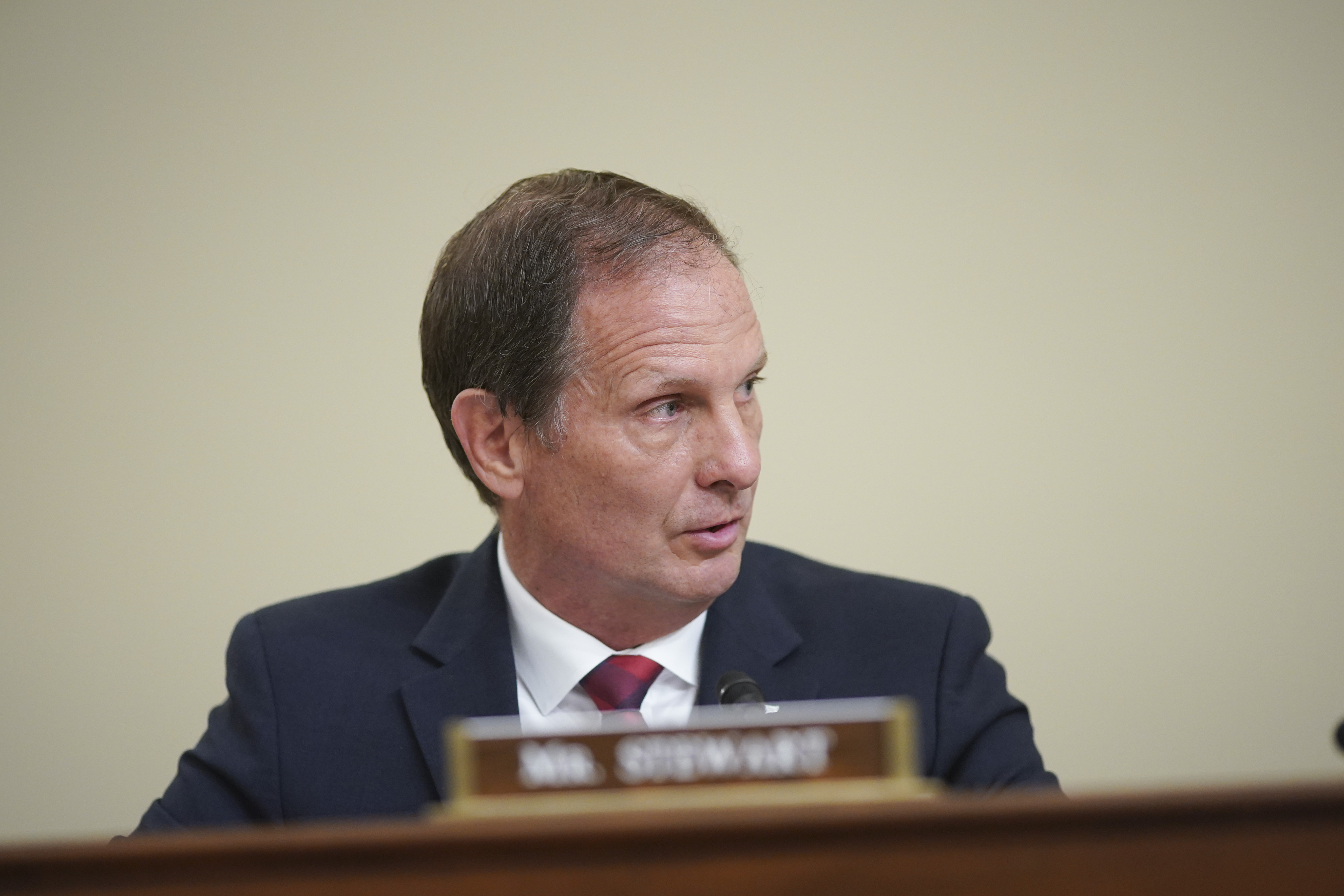 Rep. Chris Stewart, R-Utah, speaks during a House Intelligence Committee hearing on Capitol Hill in Washington.