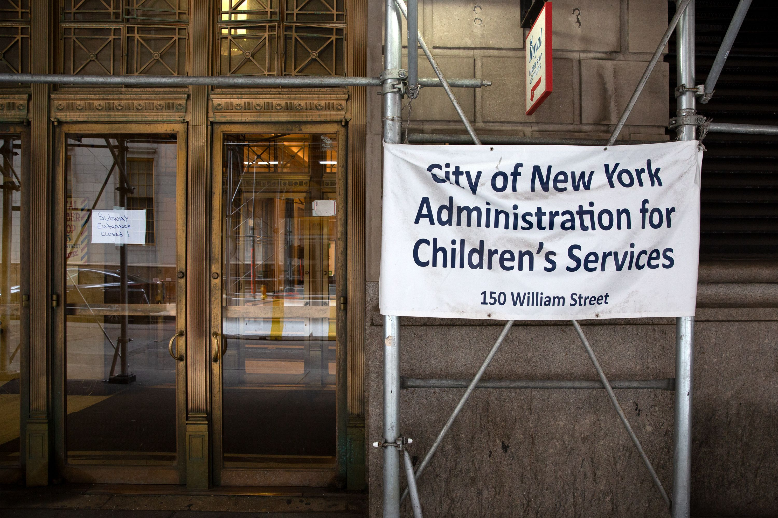 The city's Administration For Children's Services headquarters in lower Manhattan.