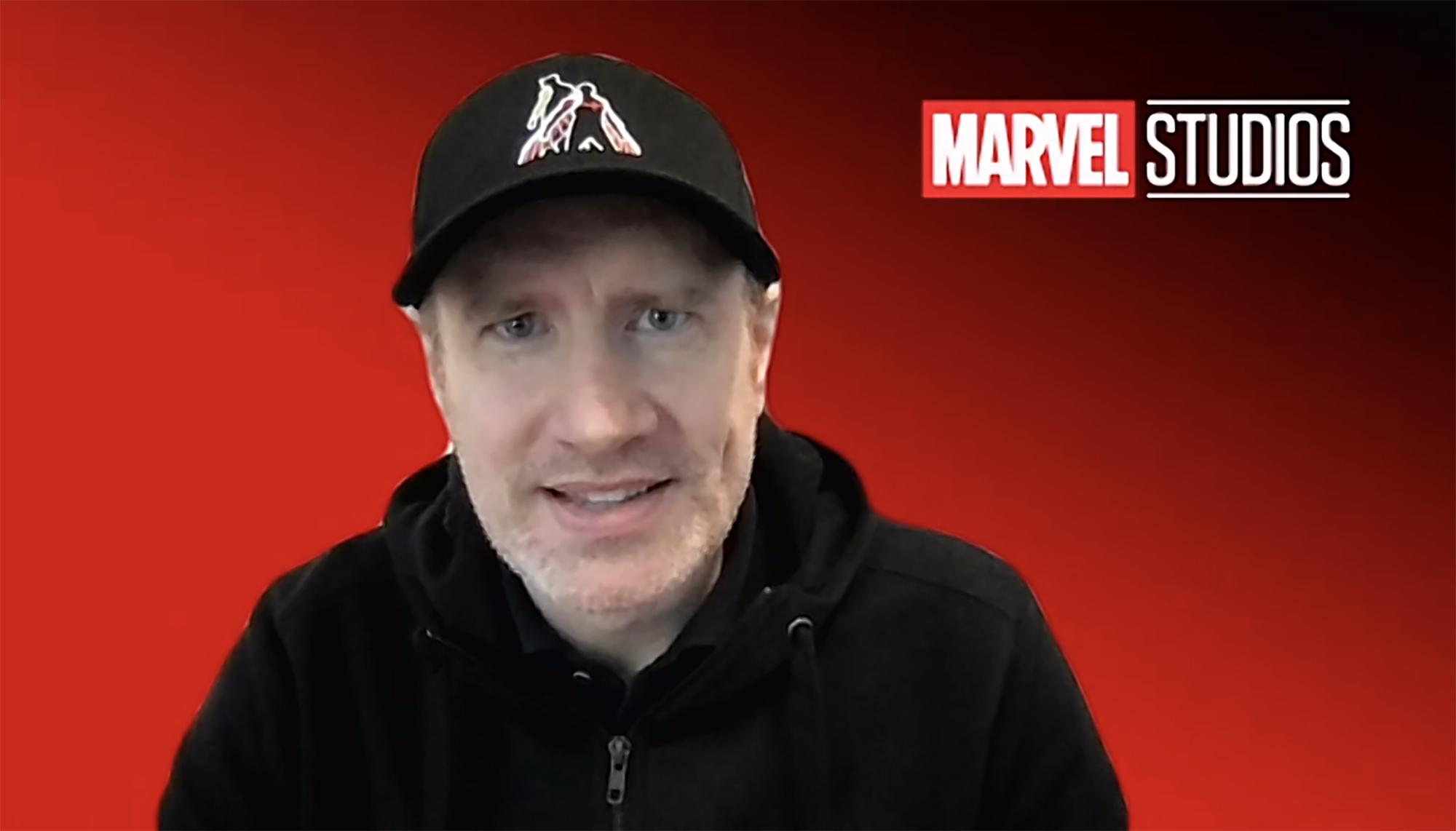 Marvel boss Kevin Feige at Disney's winter investor meeting.