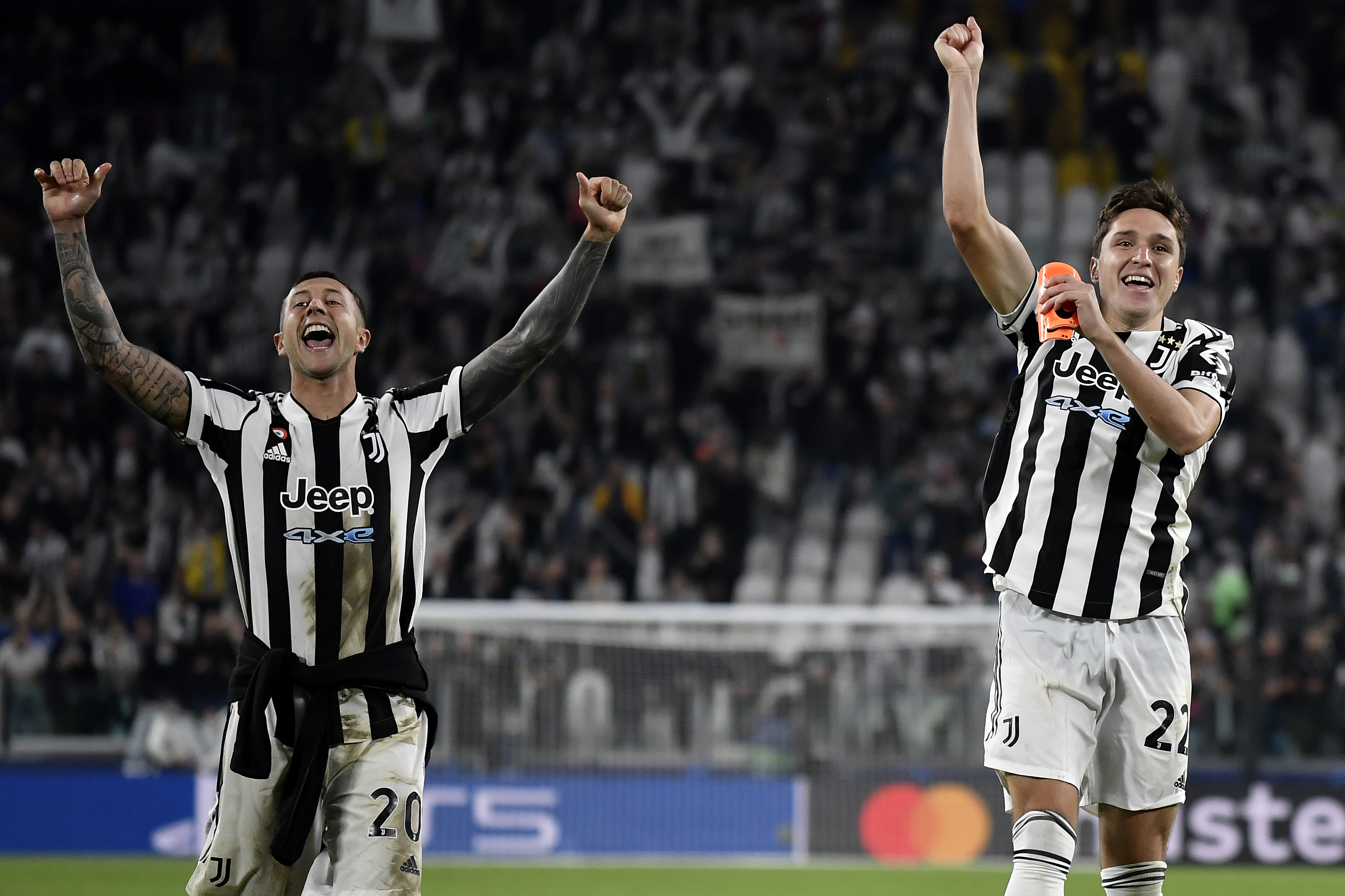 Federico Bernardeschi and Federico Chiesa of Juventus FC...