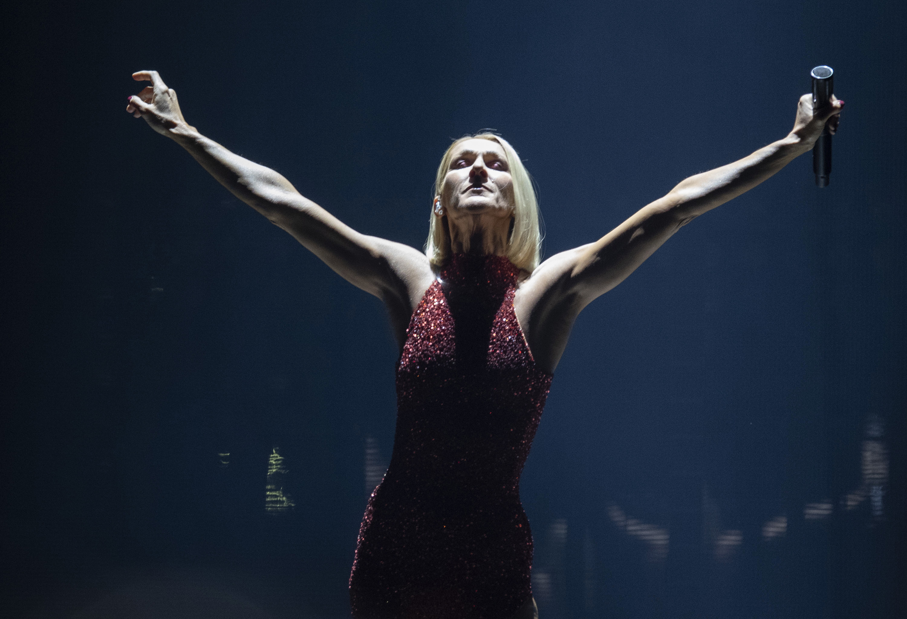Celine Dion performs during her Courage world tour in Quebec City, Montreal, Canada on Sept. 18, 2019.