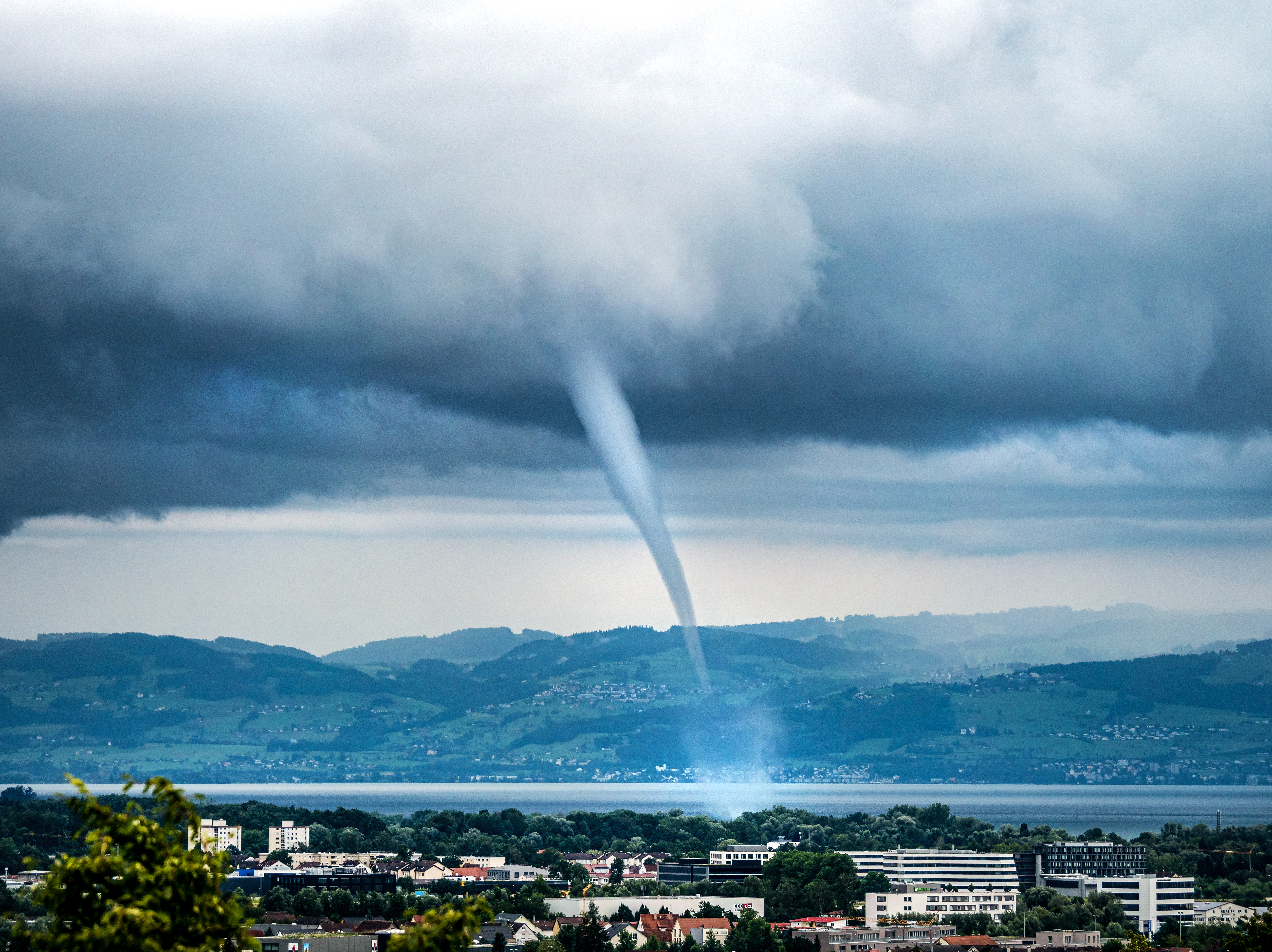 Waterspout over Lake Constance