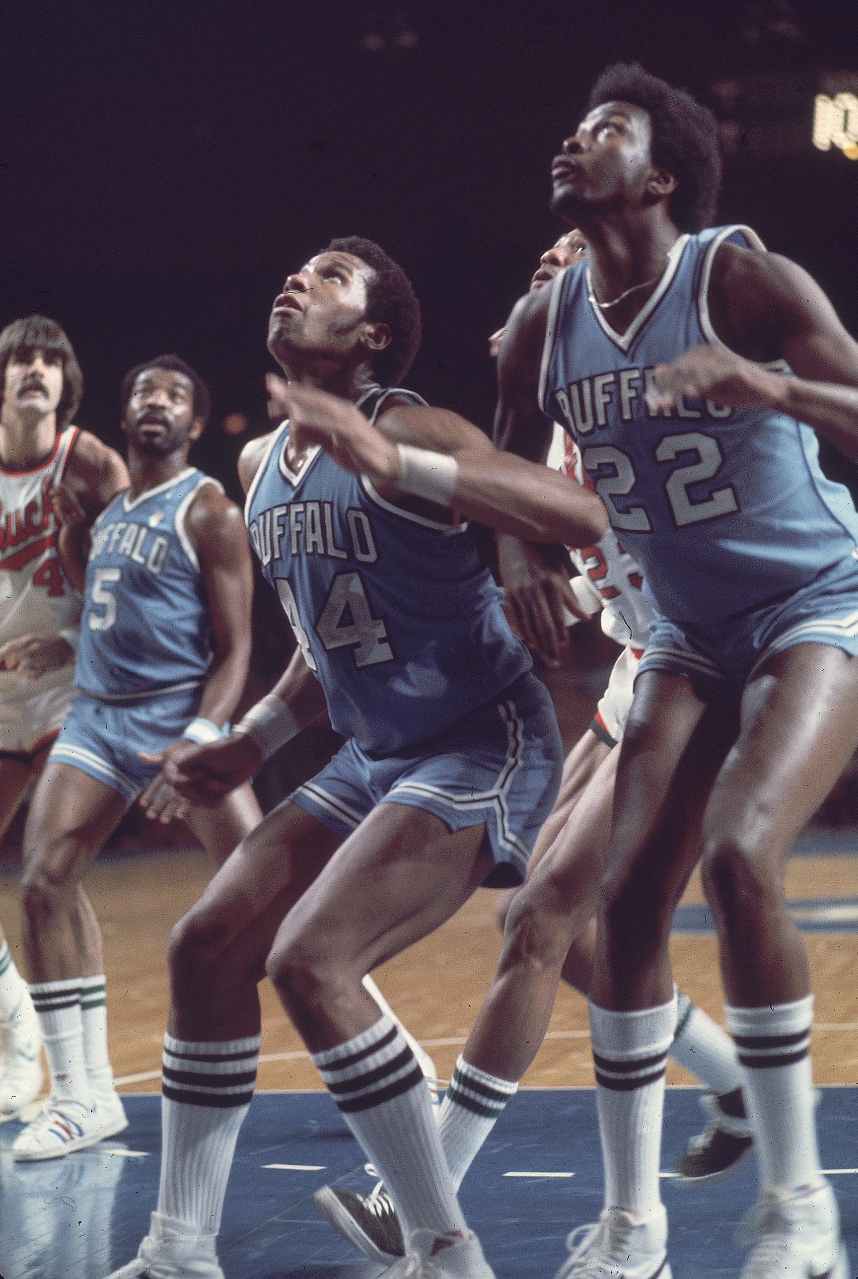 Buffalo Braves Adrian Dantley and Moses Malone