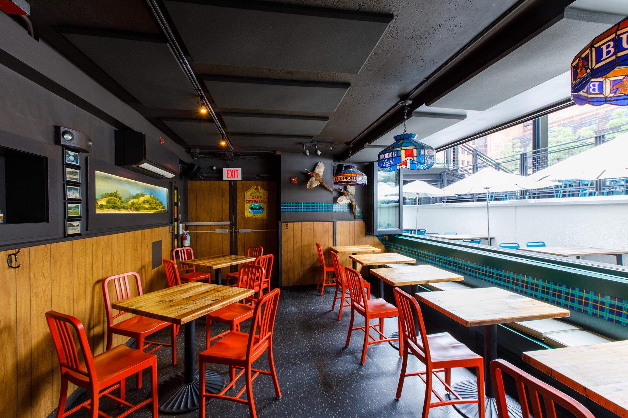 Interior shot of a modern-looking dive bar.