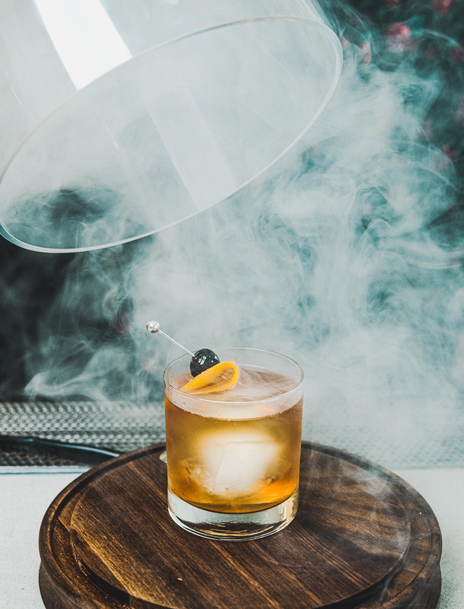 smokey bourbon cocktail