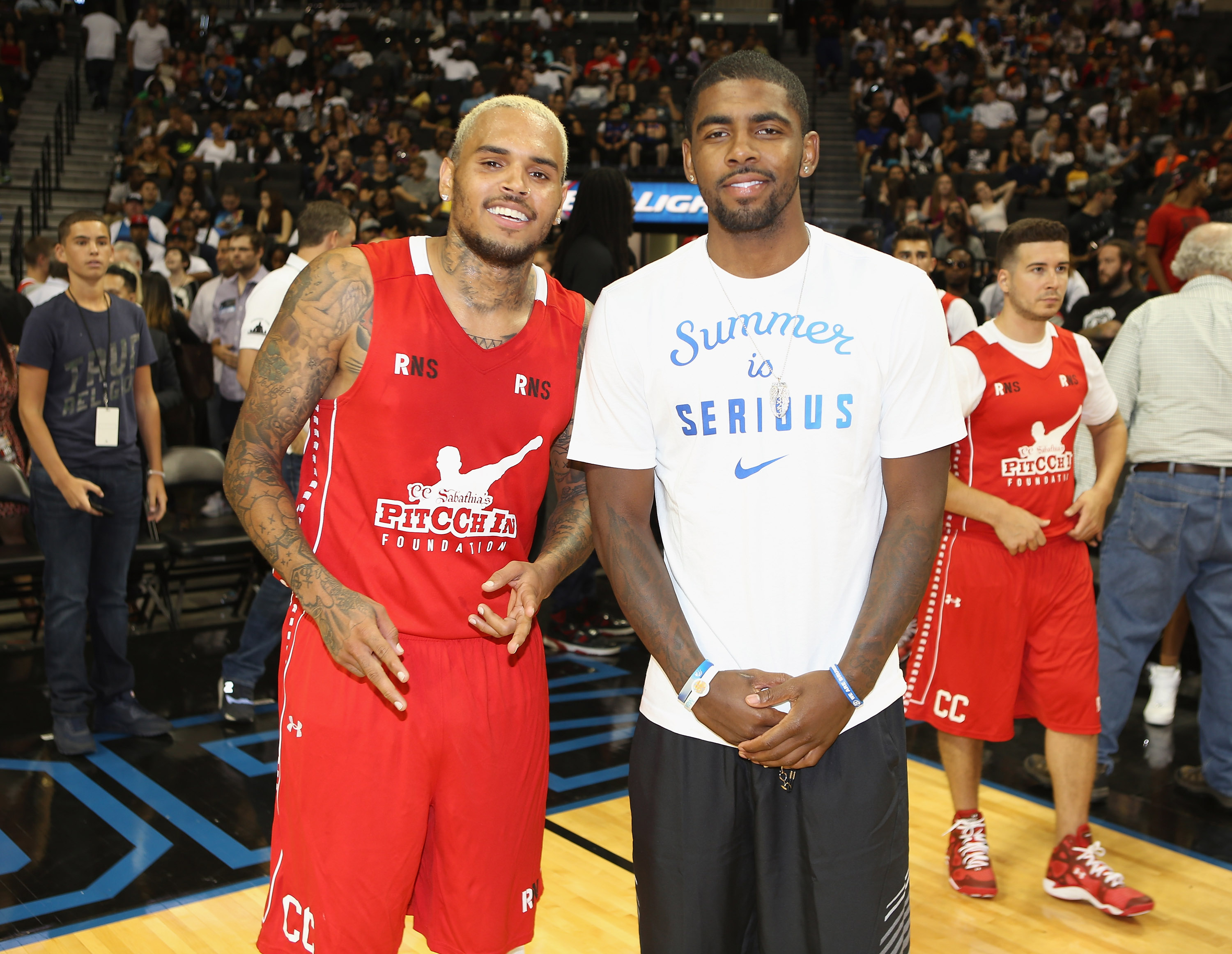 Chris Brown and Kyrie Irving
