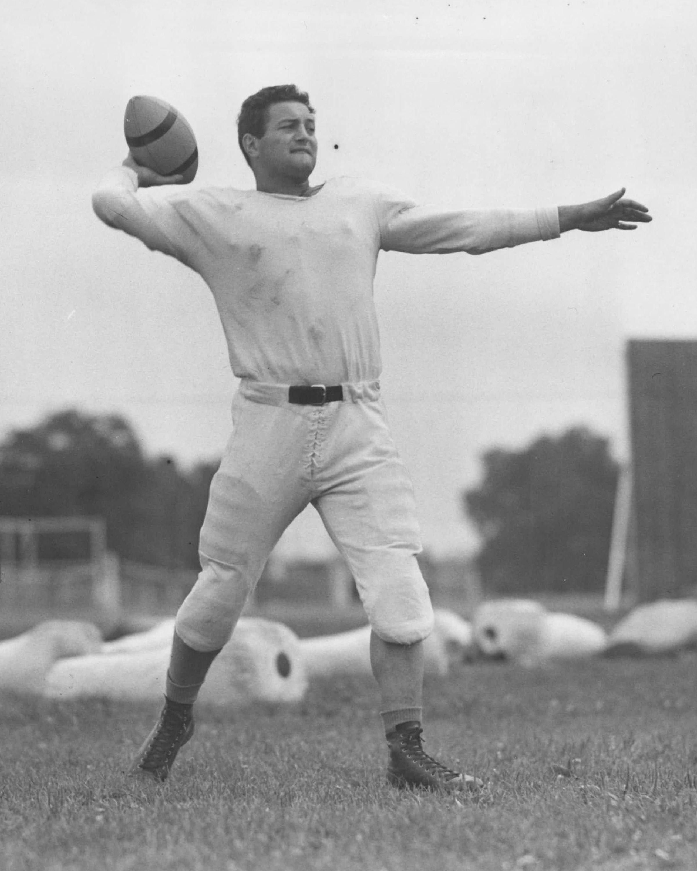 It's not good when photos of the last great quarterback in team history are in black and white. Sid Luckman retired as a Bear in 1950.