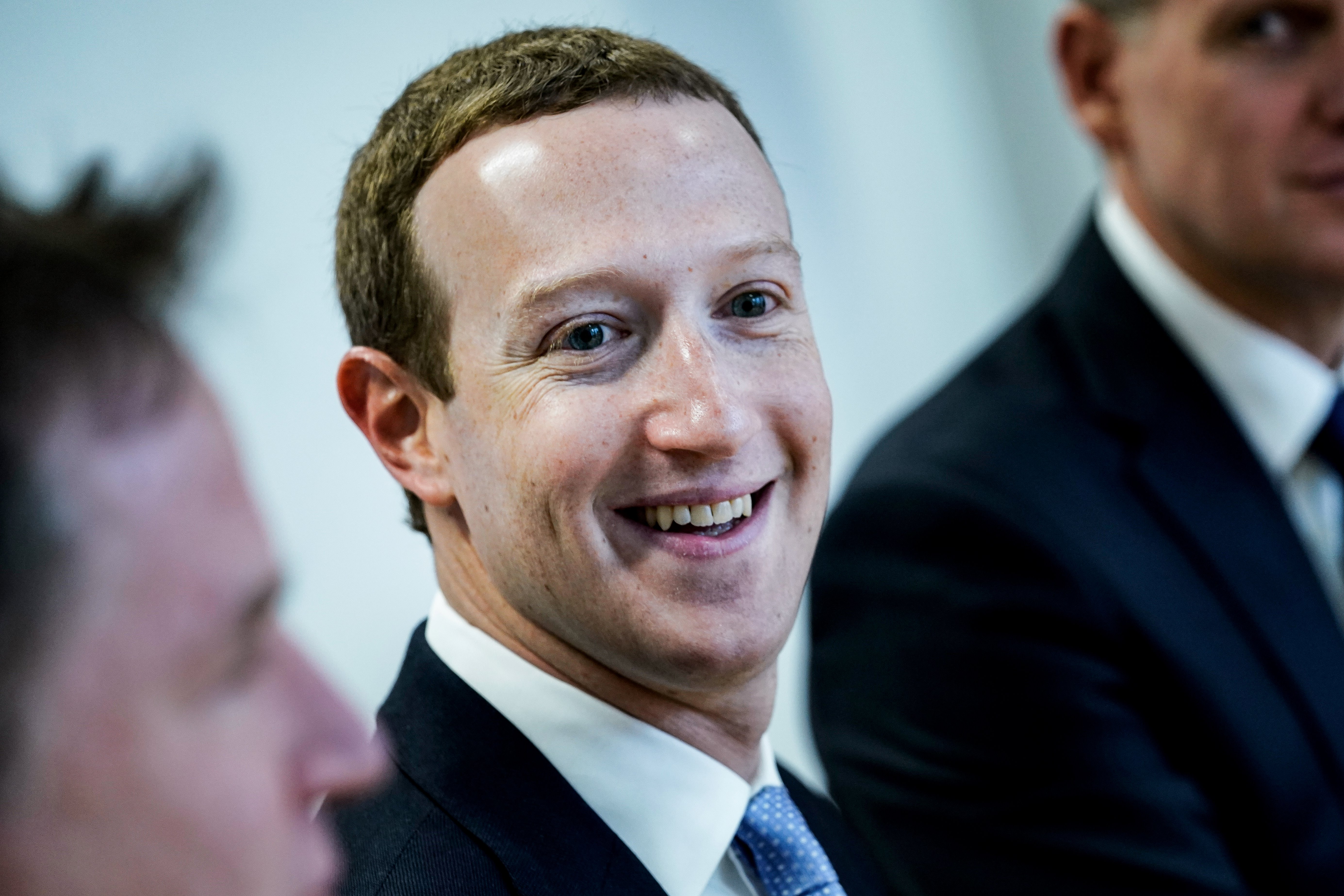 Mark Zuckerberg smiling.