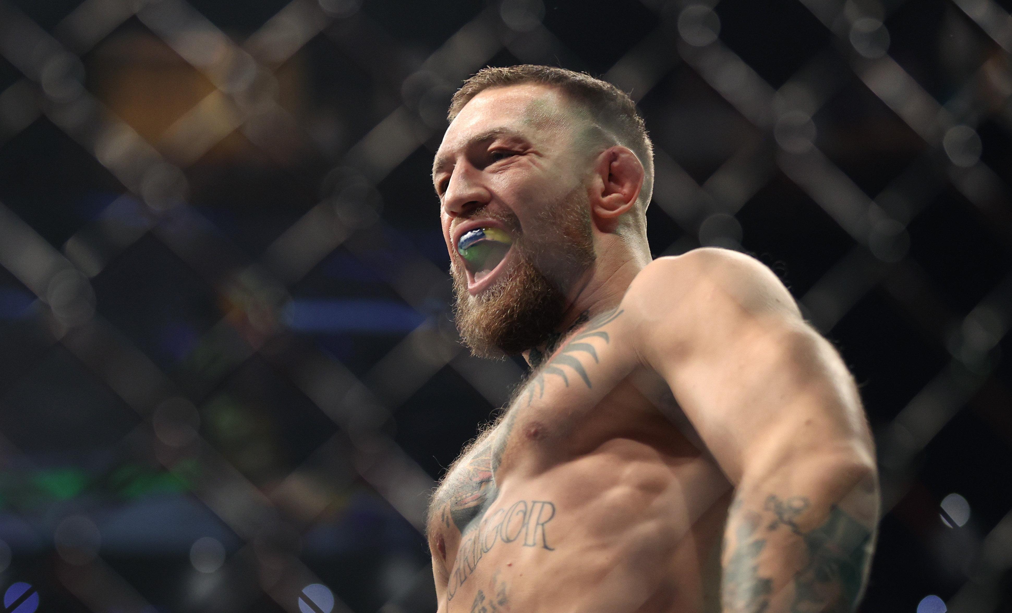Conor McGregor during his UFC 264 headliner with Dustin Poirier.