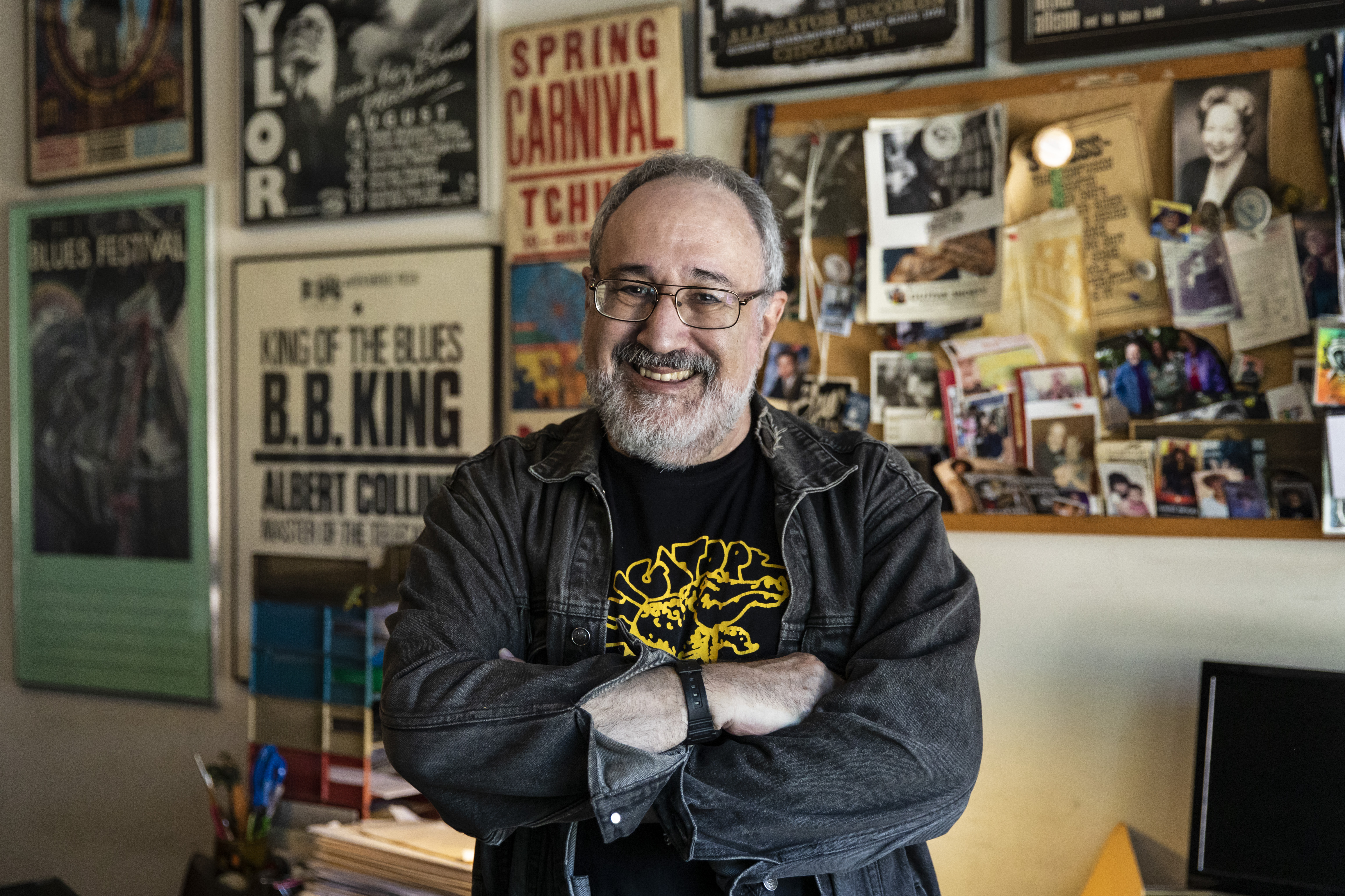 Bruce Iglauer, founder and head of the independent blues record label Alligator Records.